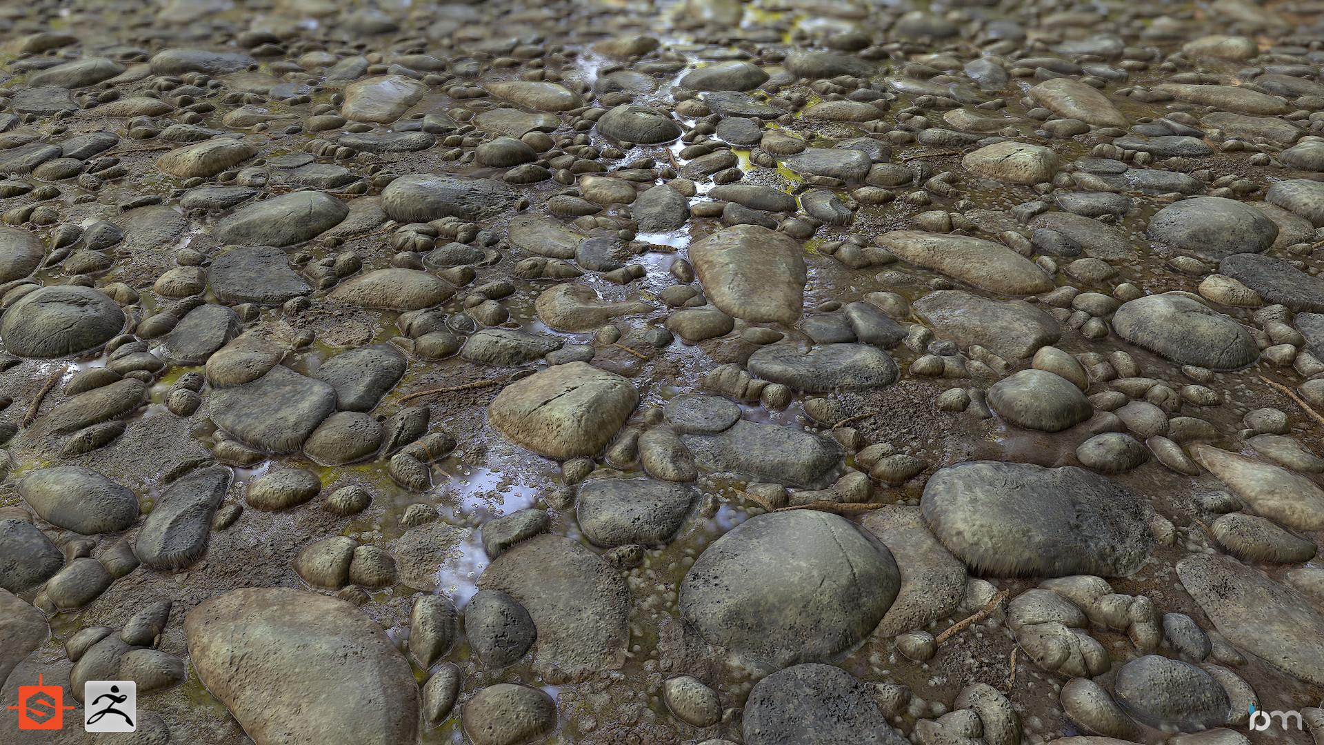 ArtStation - Cobble River Bed, Ben Moseley