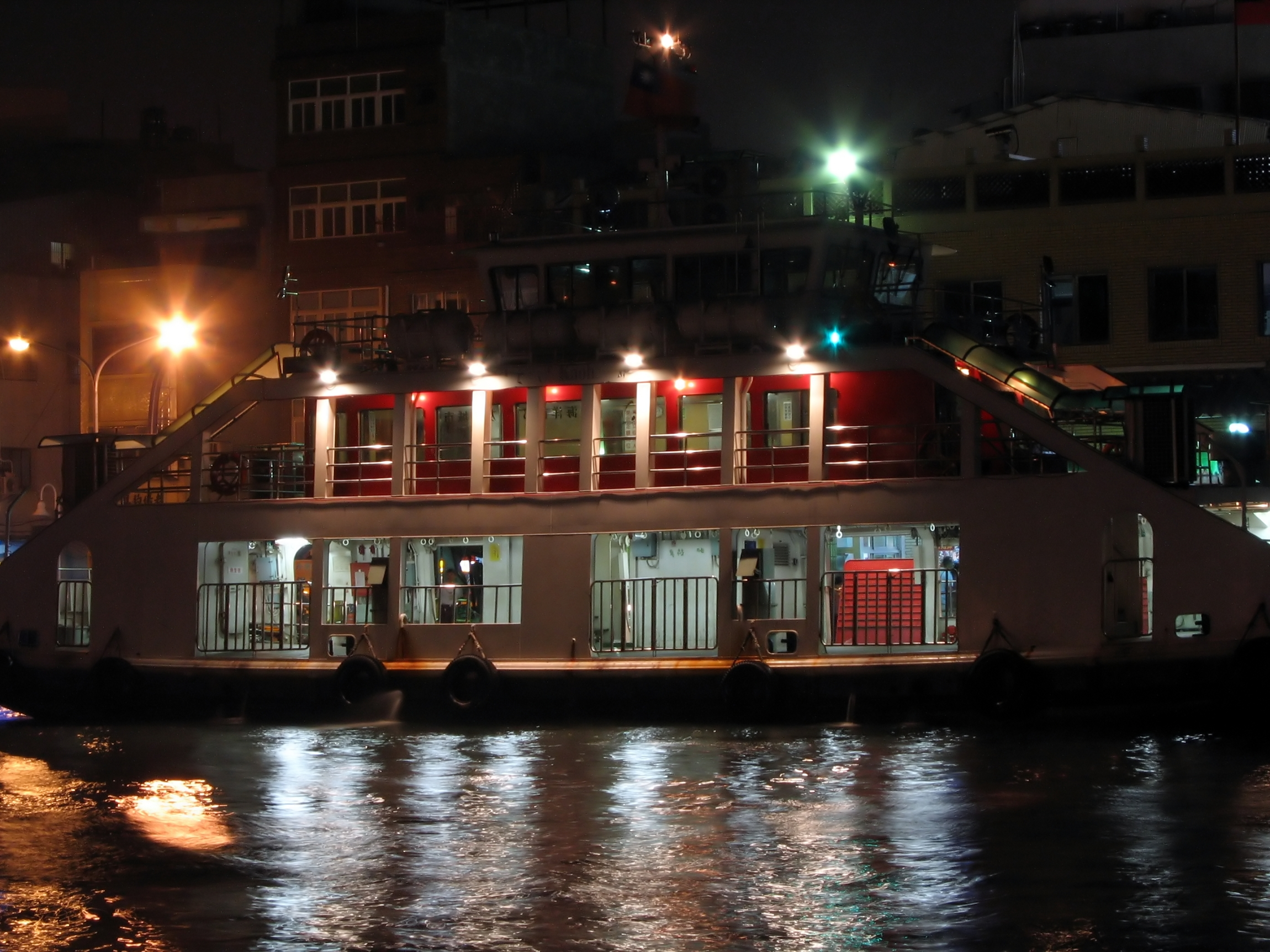 River ferry by night photo