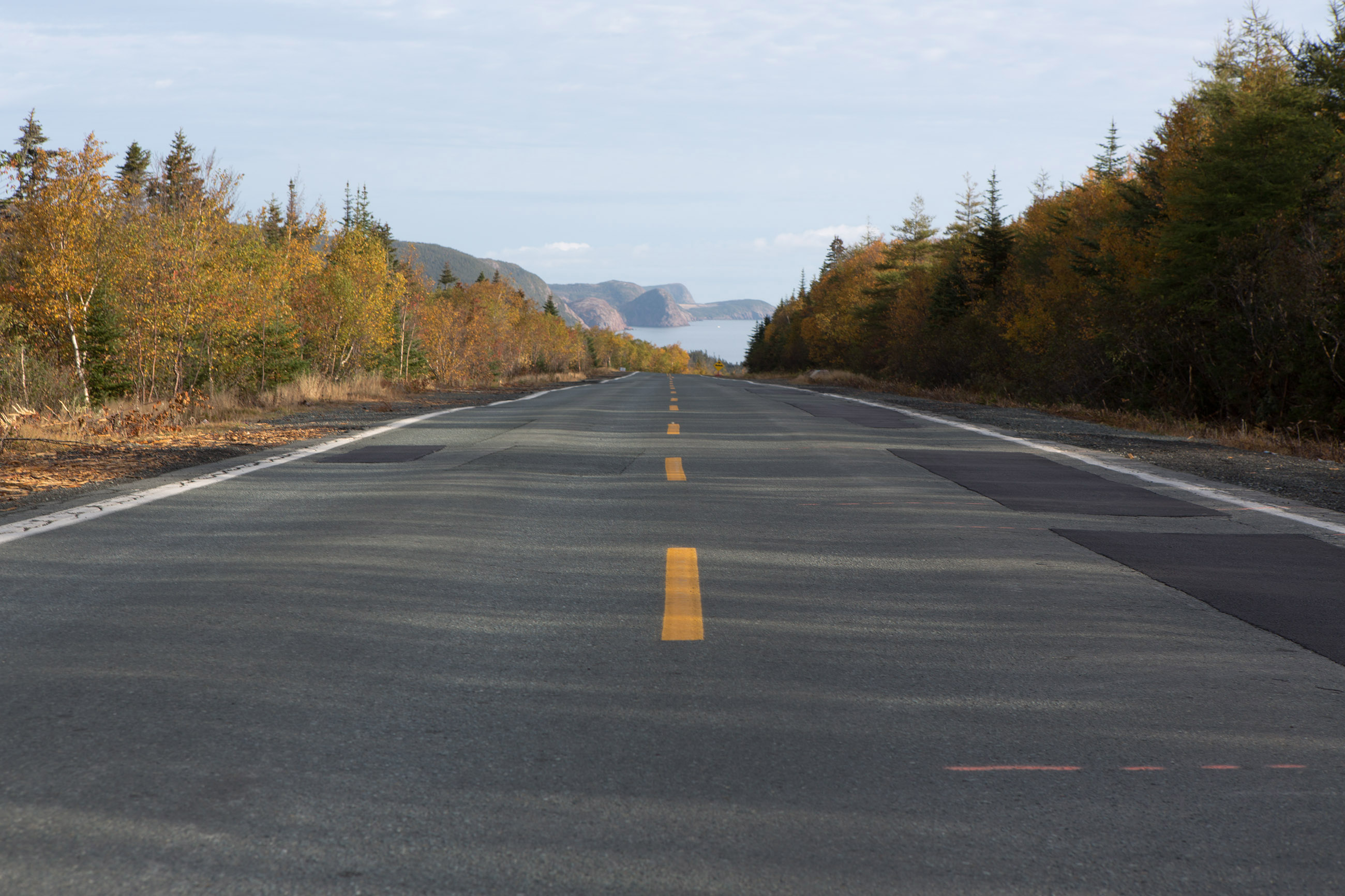 Road, Autumn, Paved, Winding, Water, HQ Photo