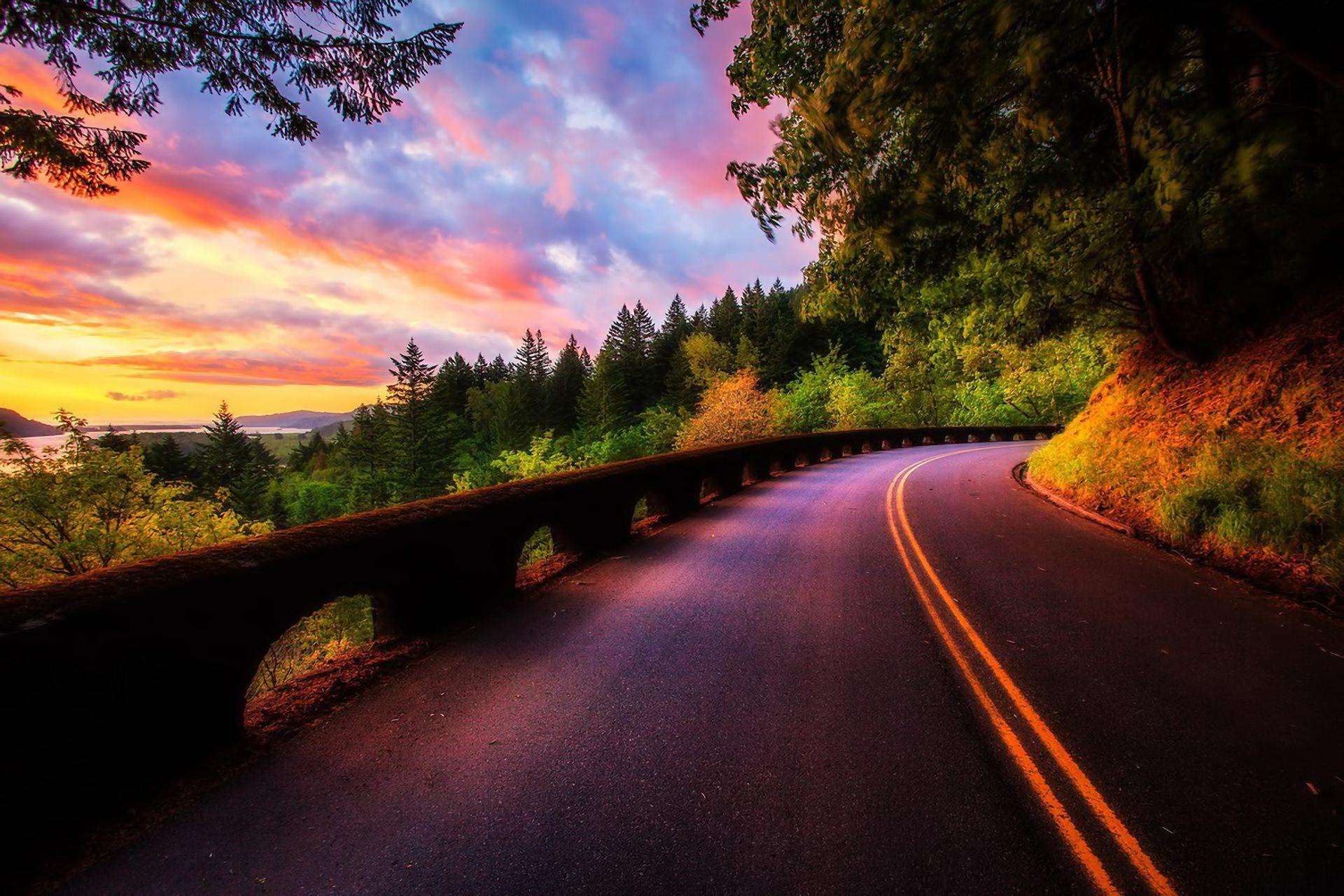 Road along the sunset / 1920 x 1280 / Sunriseandsunset / Photography ...