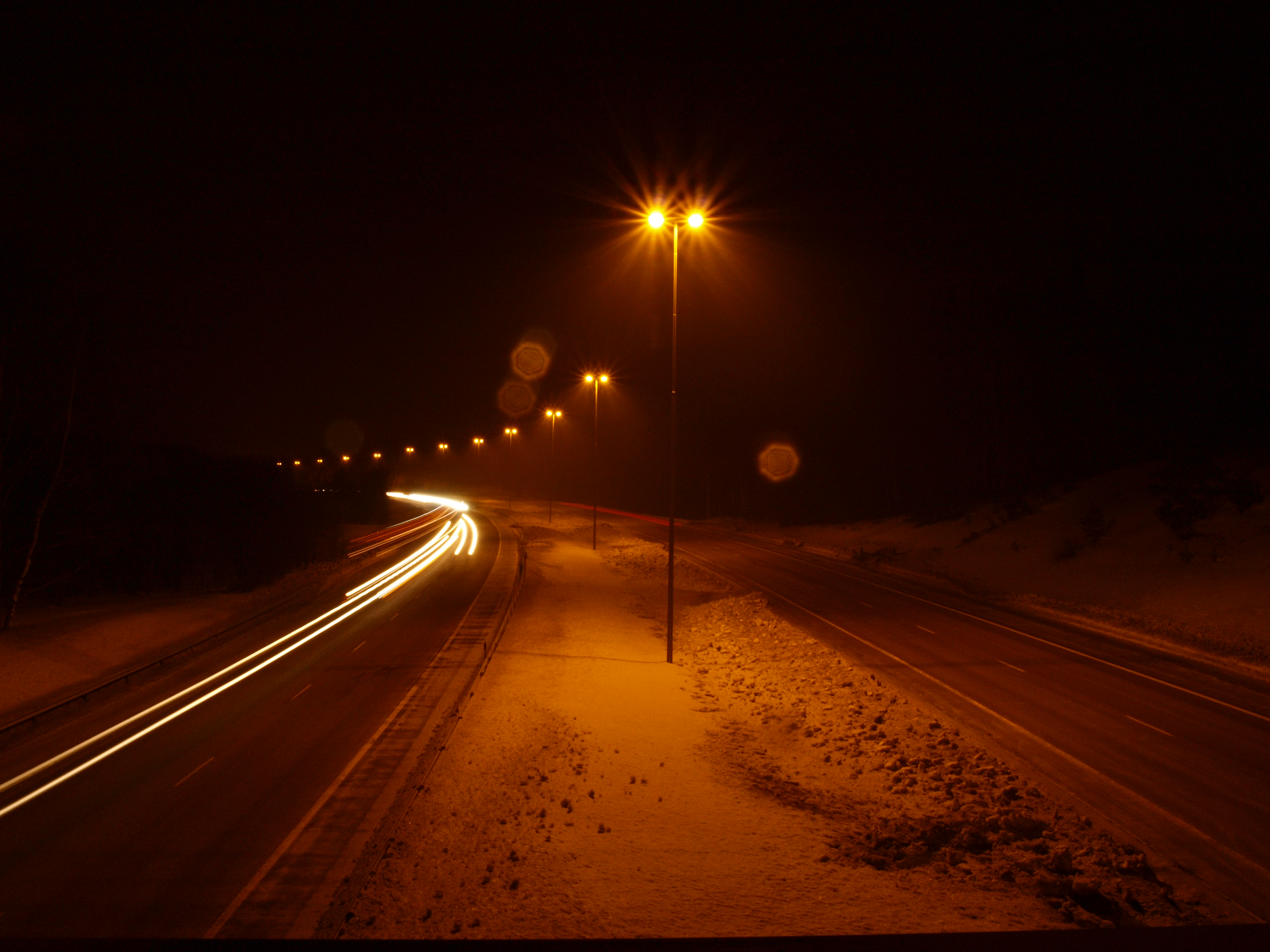 Free Photo Road At Night Dark Night Road Free Download Jooinn