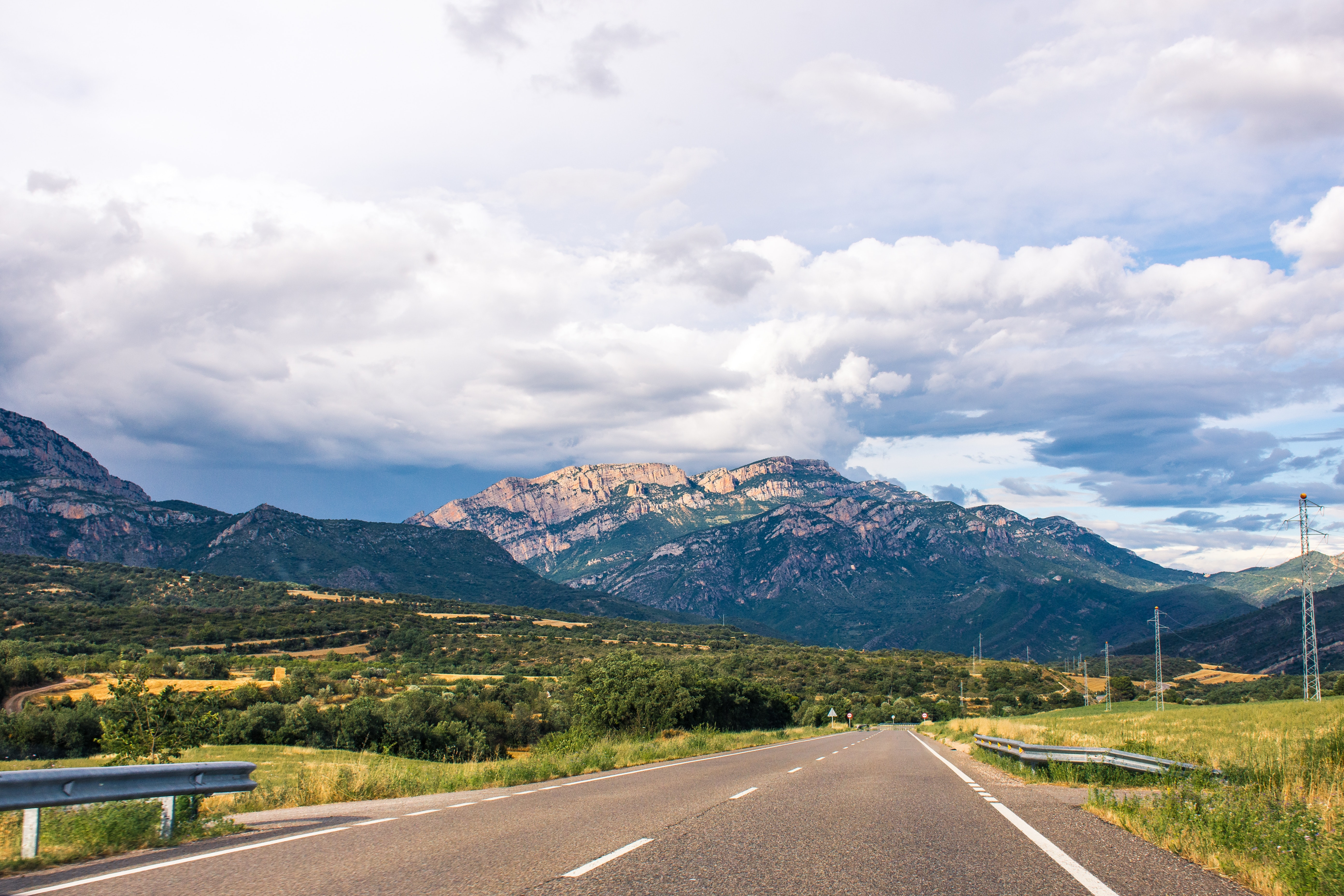 Road near mountain photo