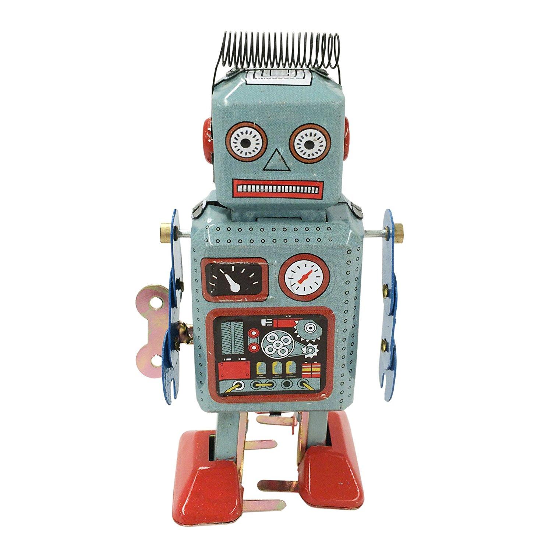 Amazon.com: Retro Classic Wind-up Robot (Japan circa 1940s): Toys ...