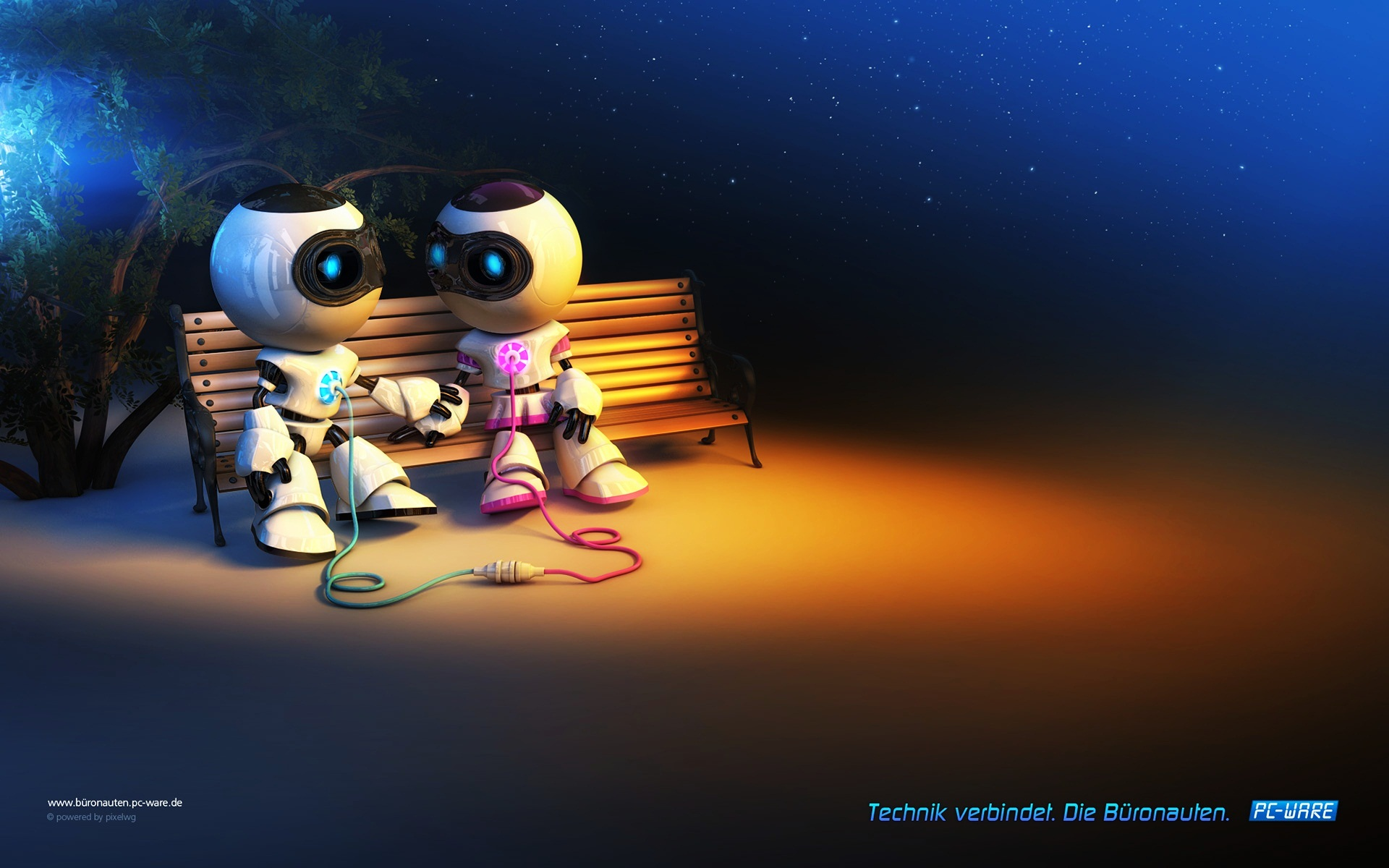 Robot Love Full HD Wallpaper and Background Image | 1920x1200 | ID ...