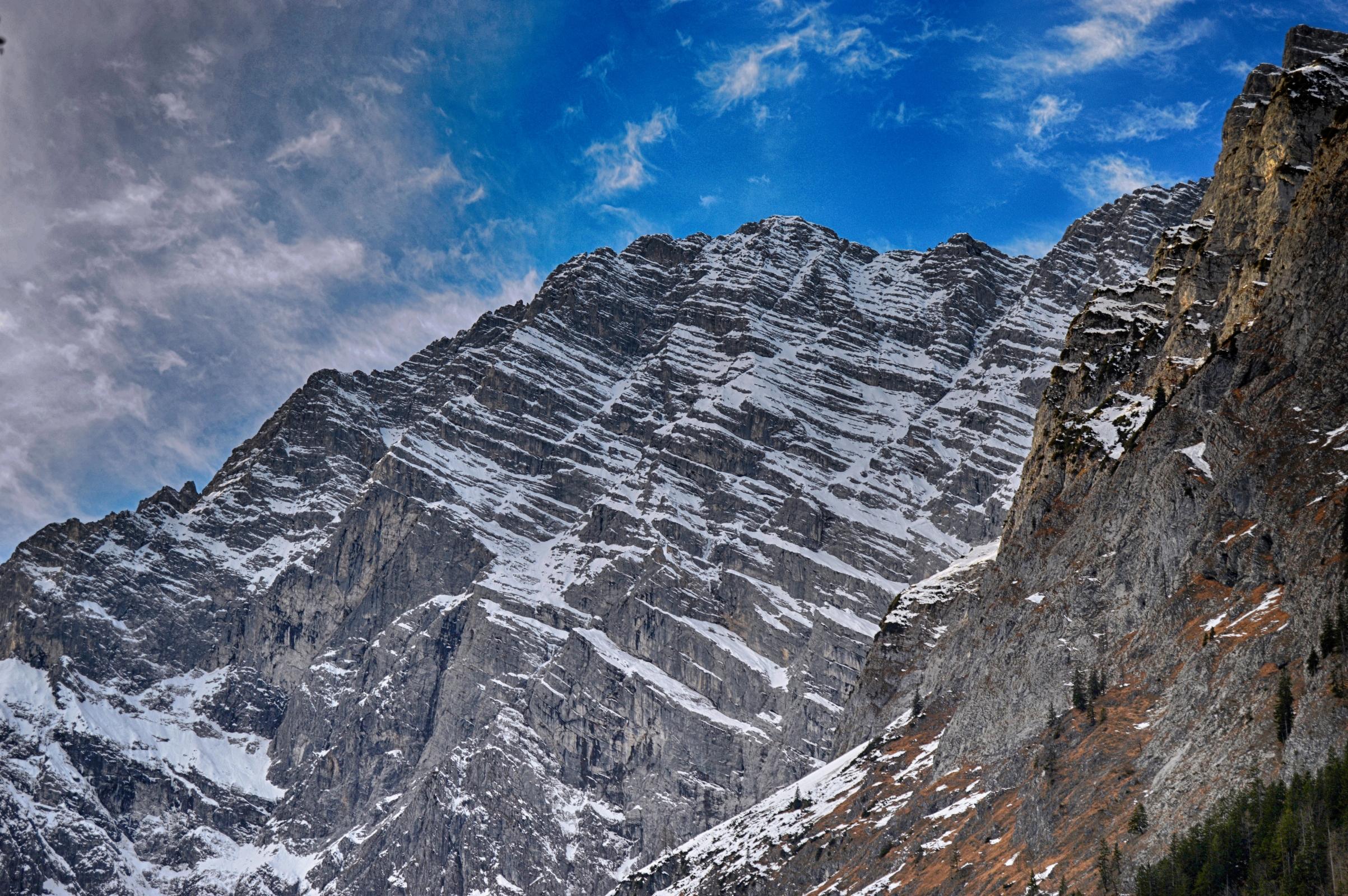 Rock mount in alps photo