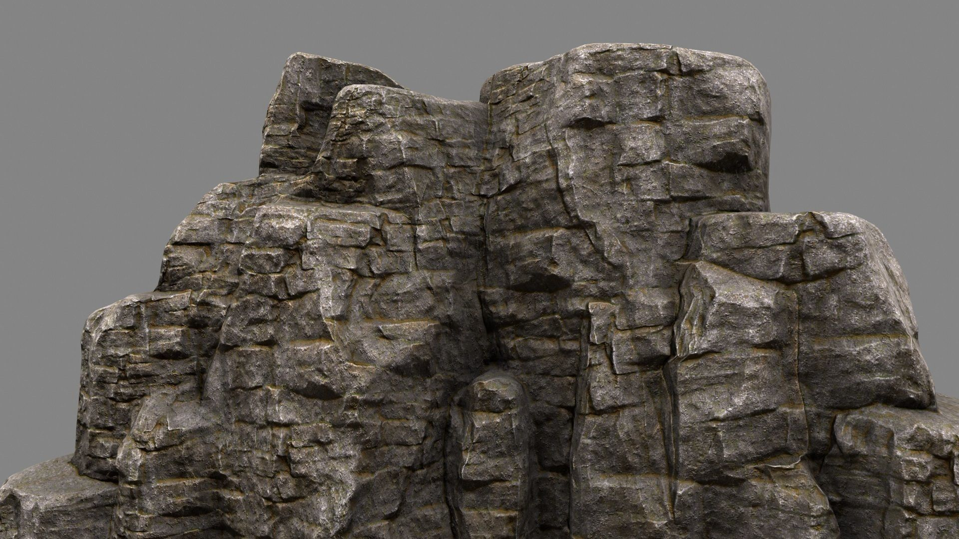 moss Rock Mountain 3D model VR / AR ready | CGTrader