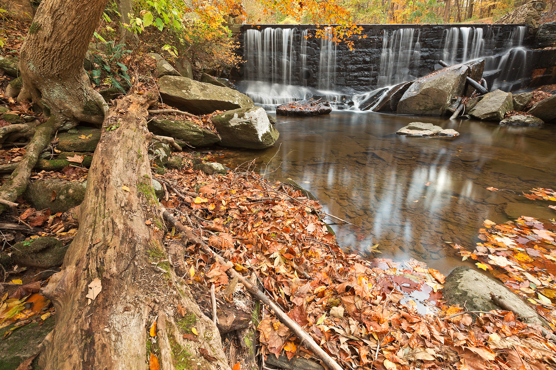 Rock Run Autumn Falls, Age, Pool, Serene, Scenic, HQ Photo