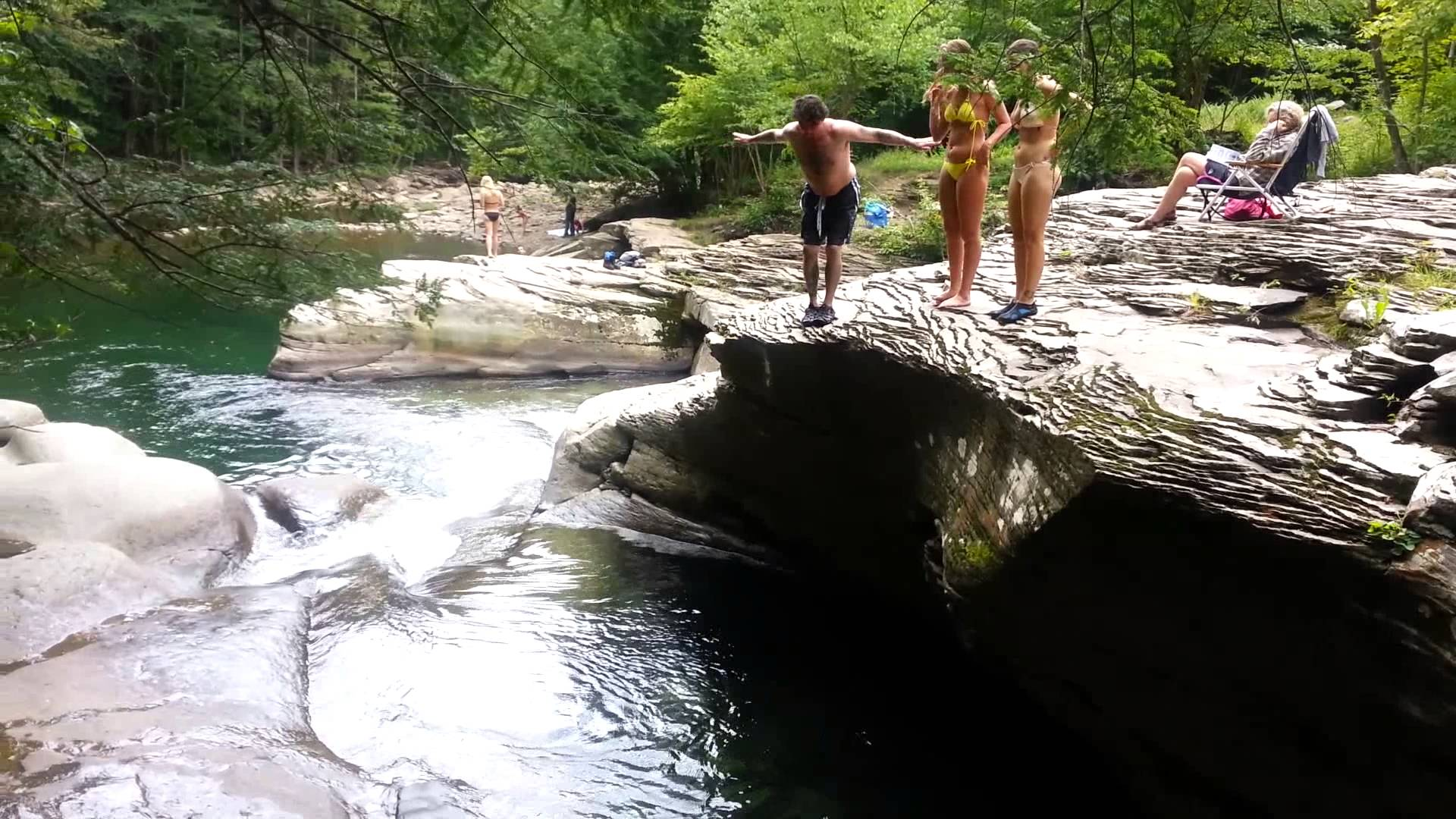 jimmy vanderveer at 2nd falls ralston pa - YouTube
