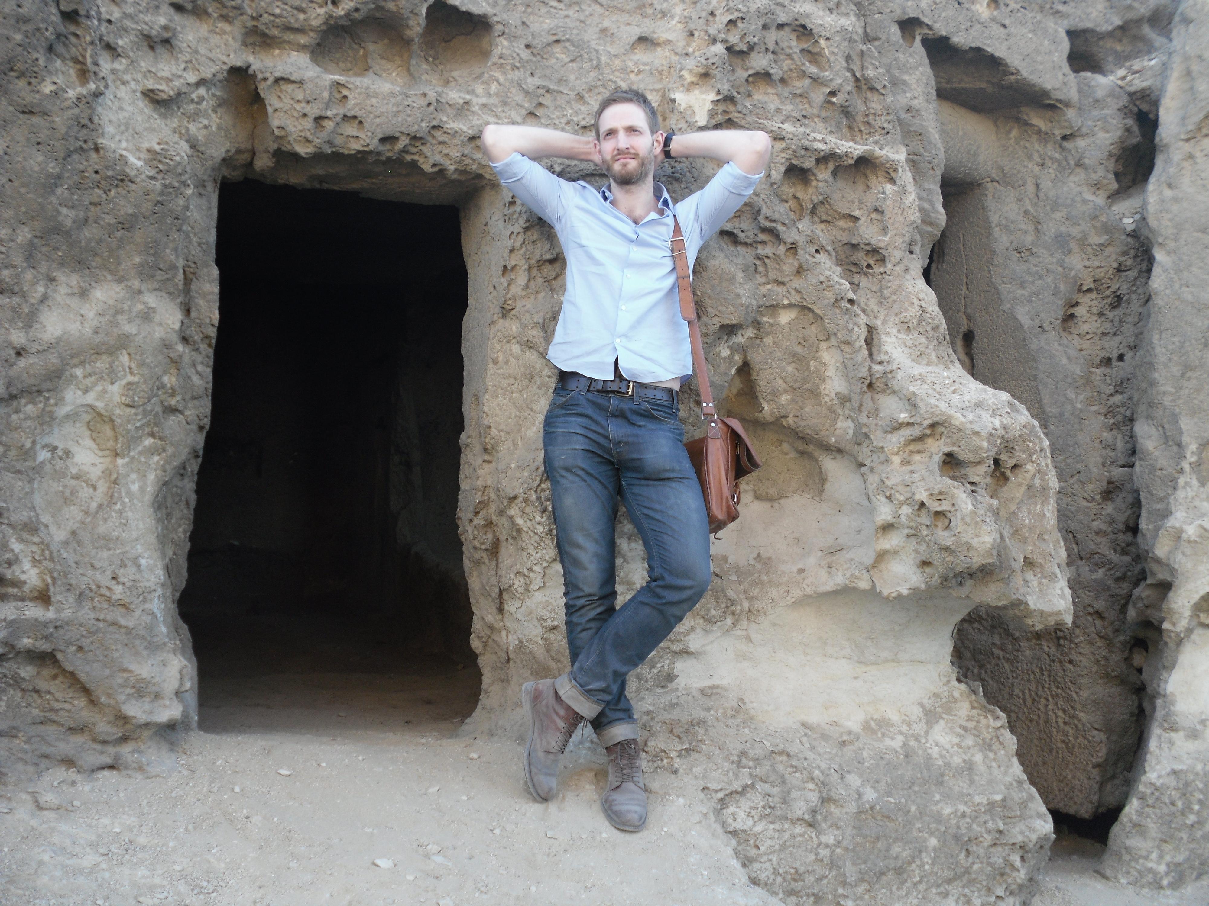 Chris at rock tomb – Chris Naunton