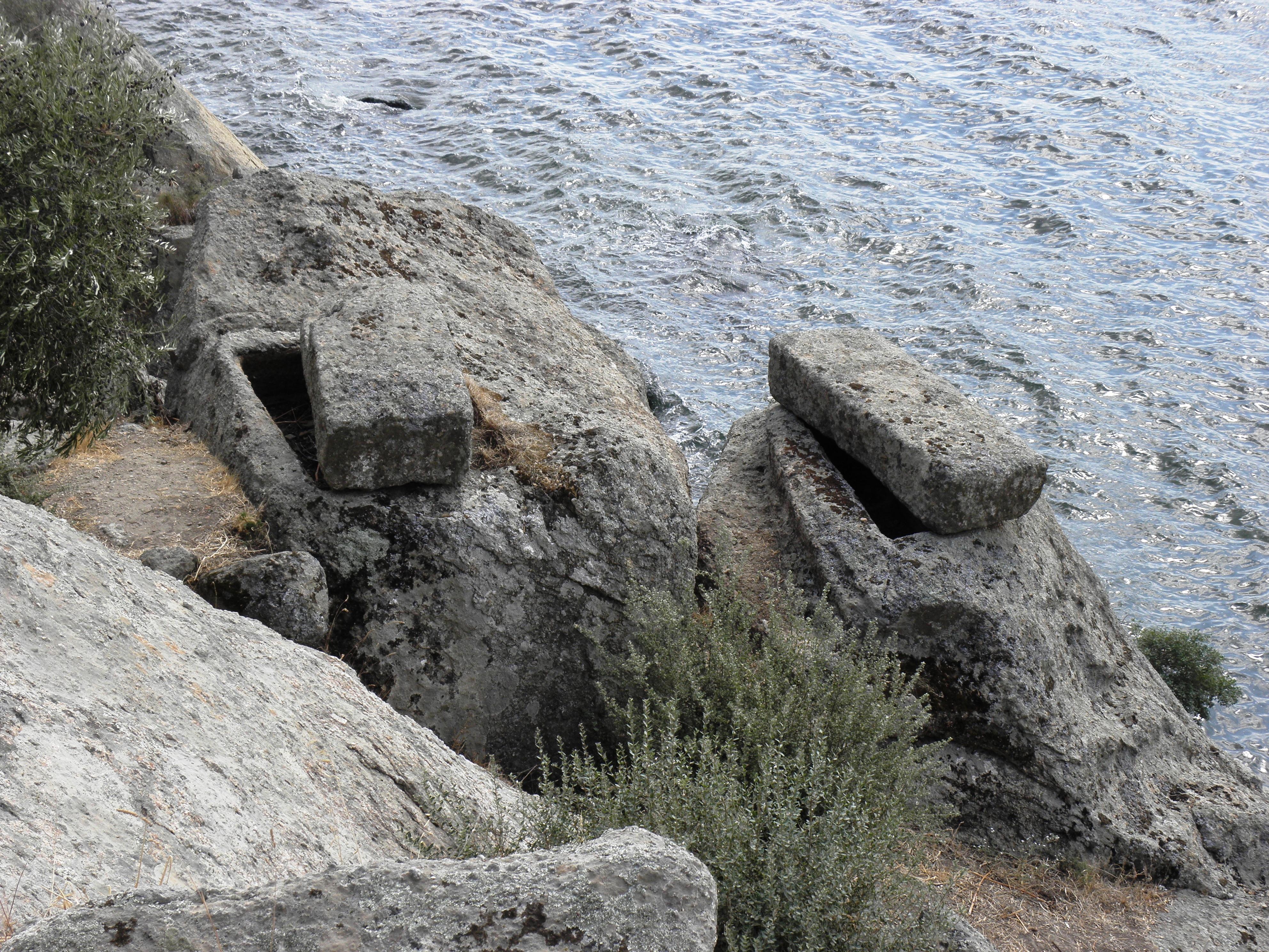 Rock tomb, Aegean, Ancient, City, Herakleia, HQ Photo