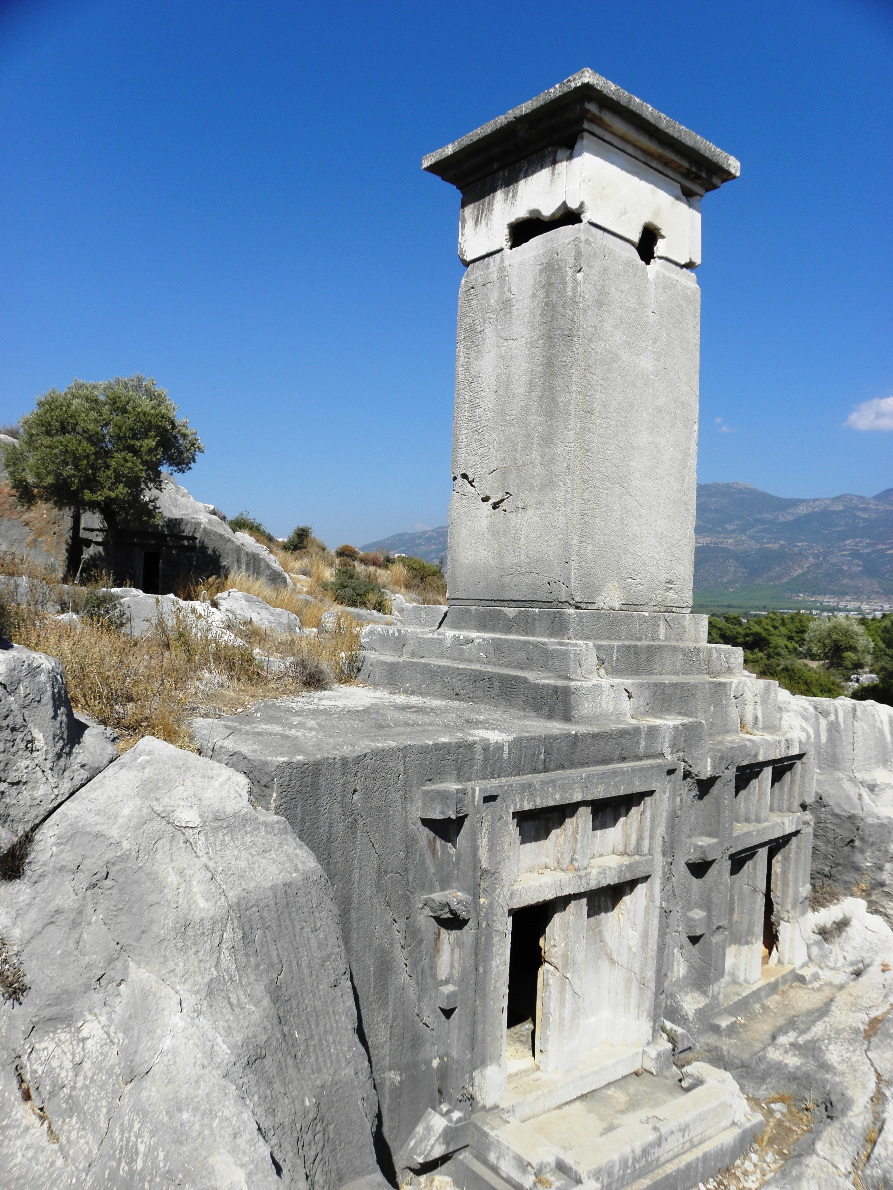 Rock tombs, Ancient, Rock, Tombs, Turkey, HQ Photo