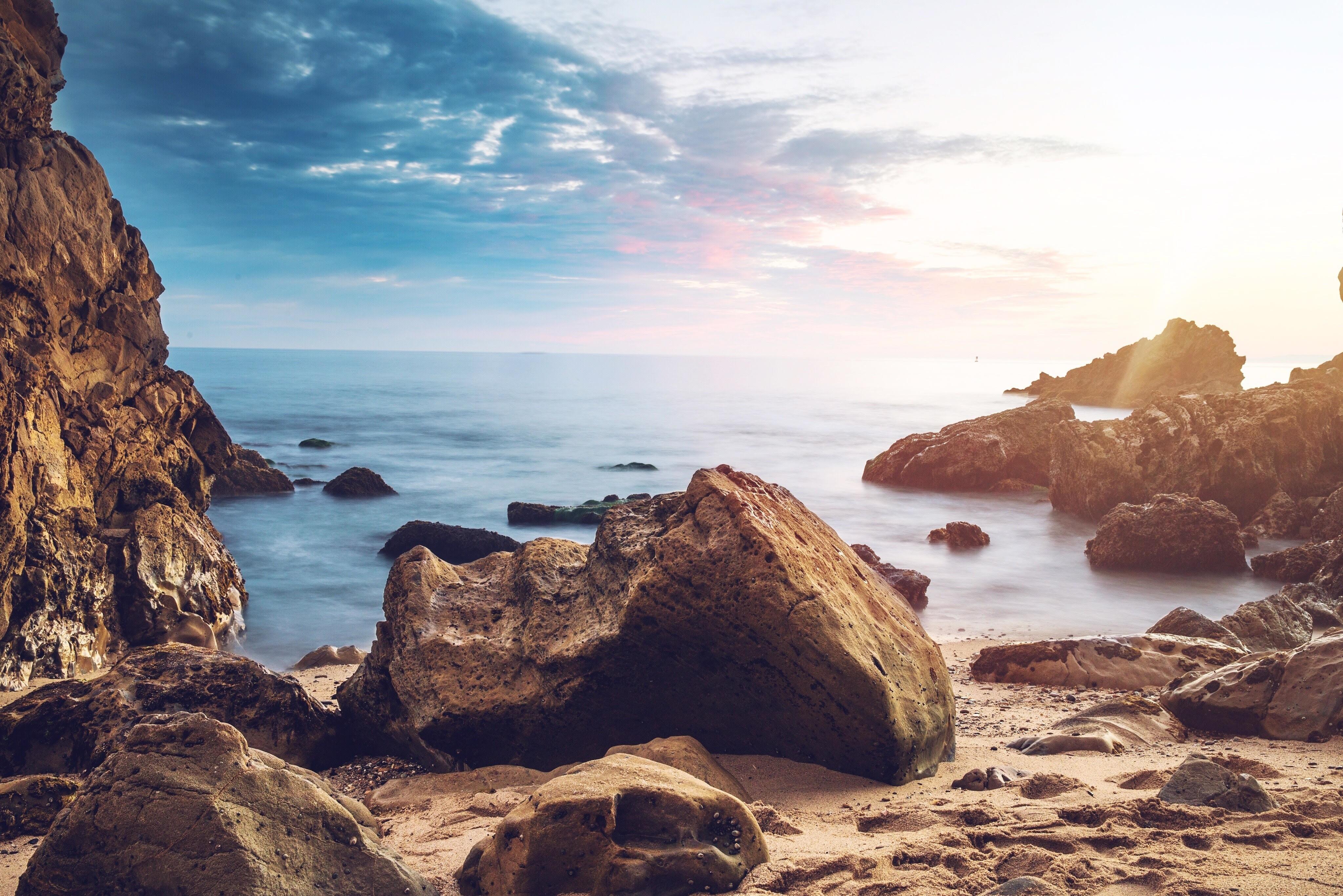 New 4k Rocky Beach Wallpaper | The Most Beautiful Beach Wallpapers ...