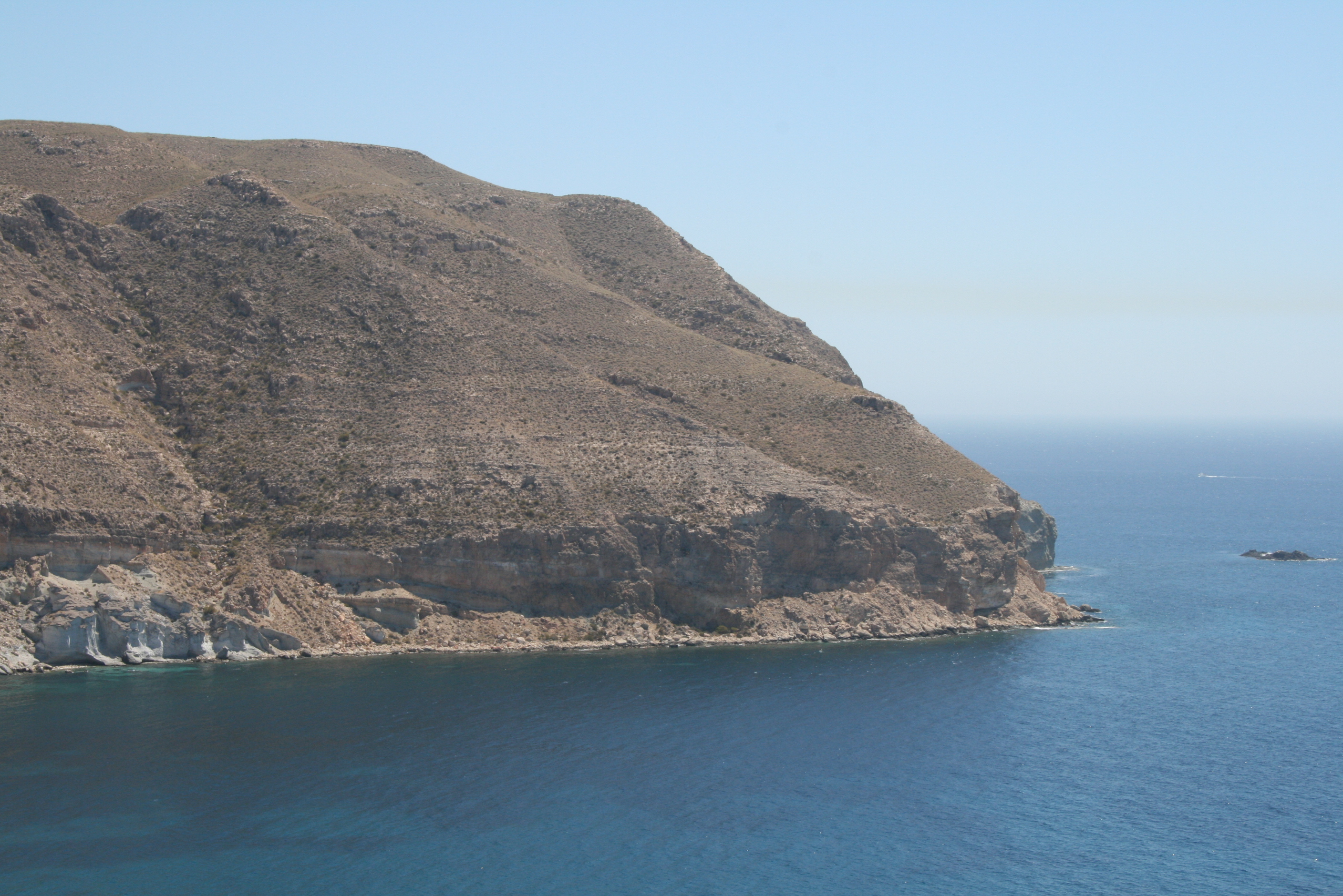 Rocky Cliff, Blue, Cliff, Island, Landscape, HQ Photo