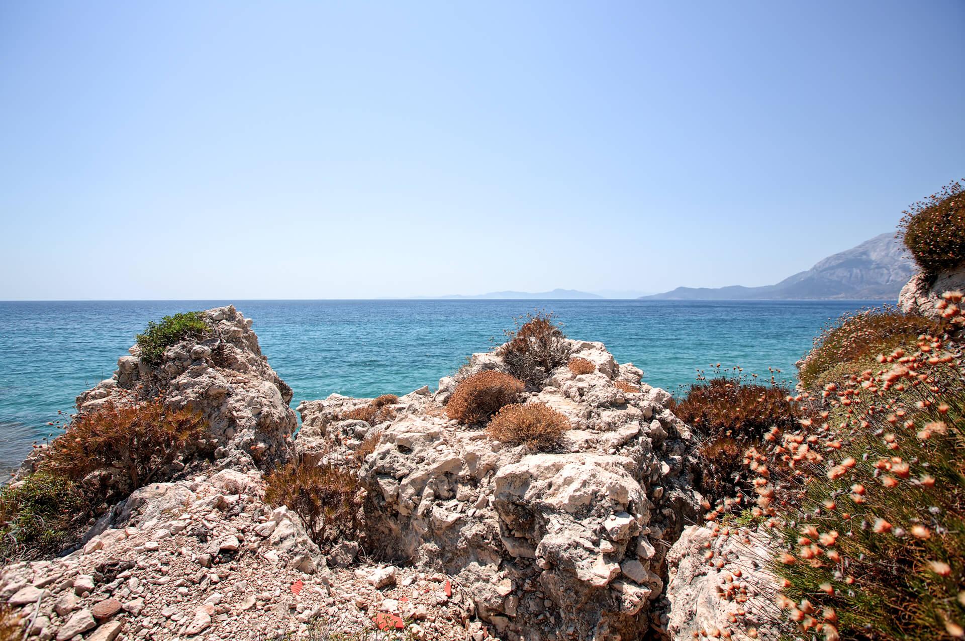 mediterranean rocky coastline   hire a photographer