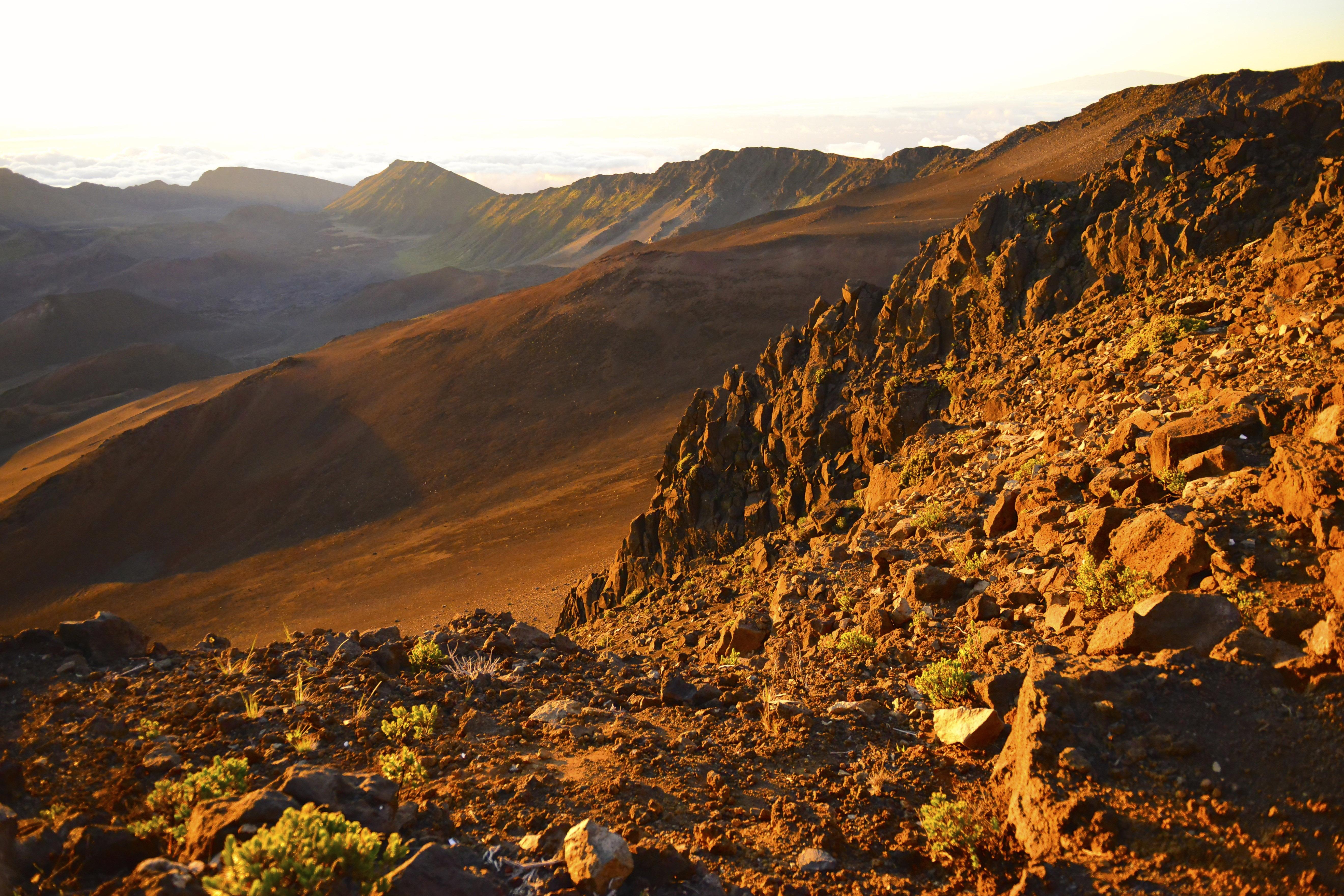 Rocky landscape at Haleakala National Park, Hawaii image - Free ...