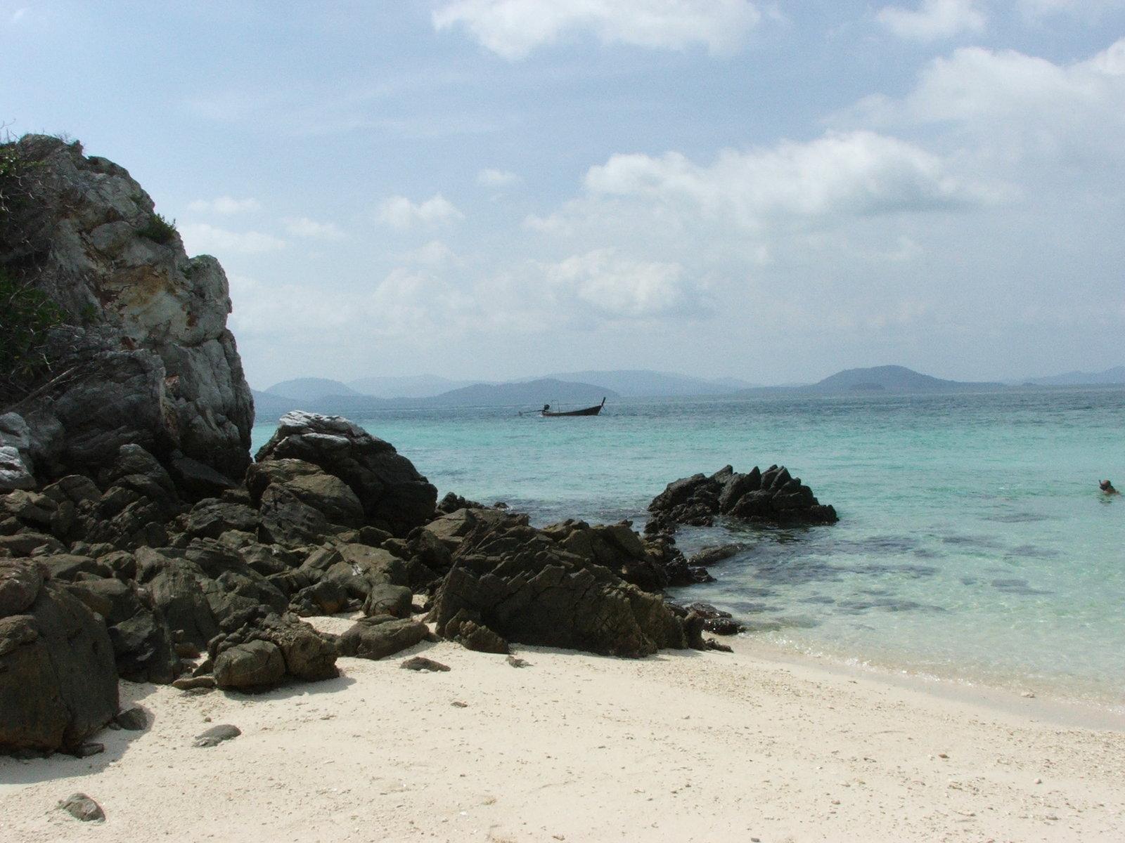 Rocky sand beach photo
