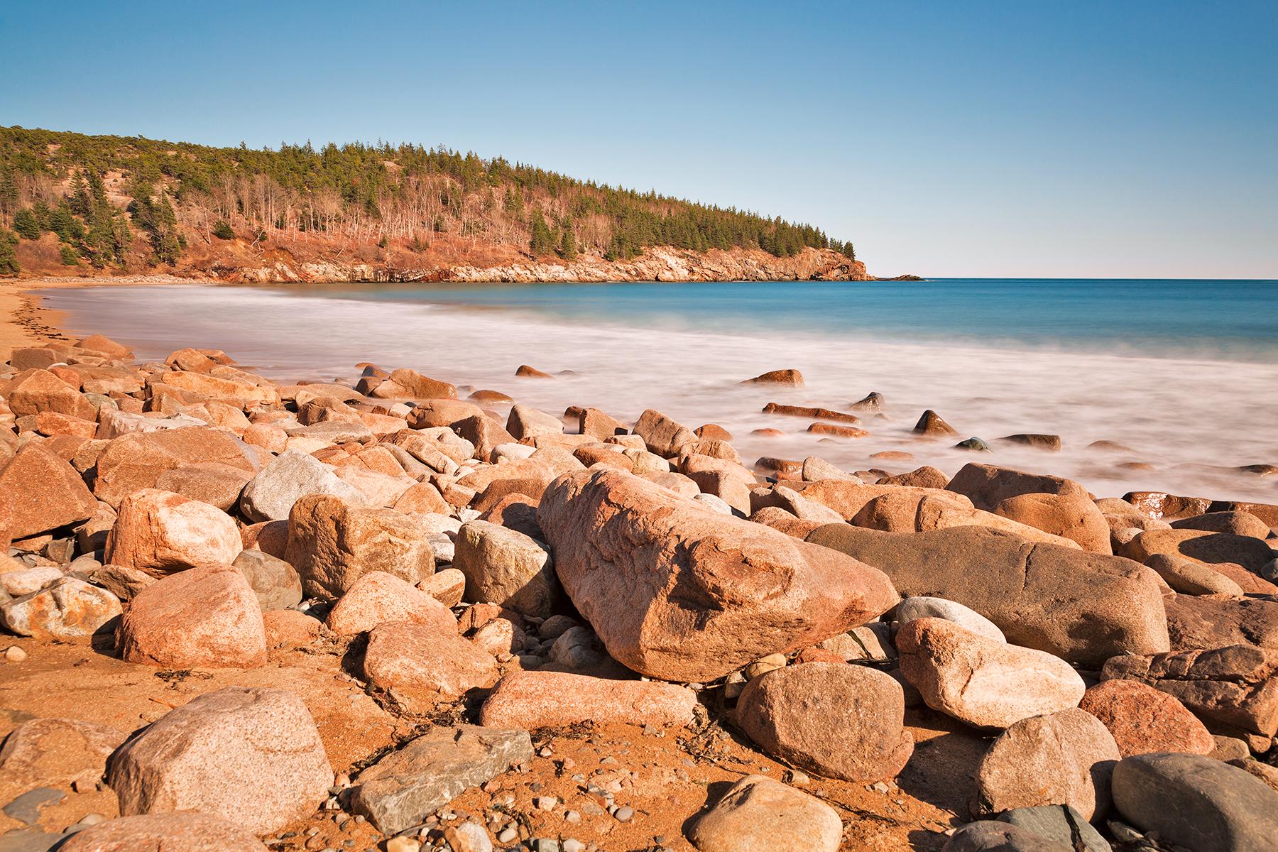 Rocky Sand Beach, Acadia, Rock, Shadow, Shades, HQ Photo