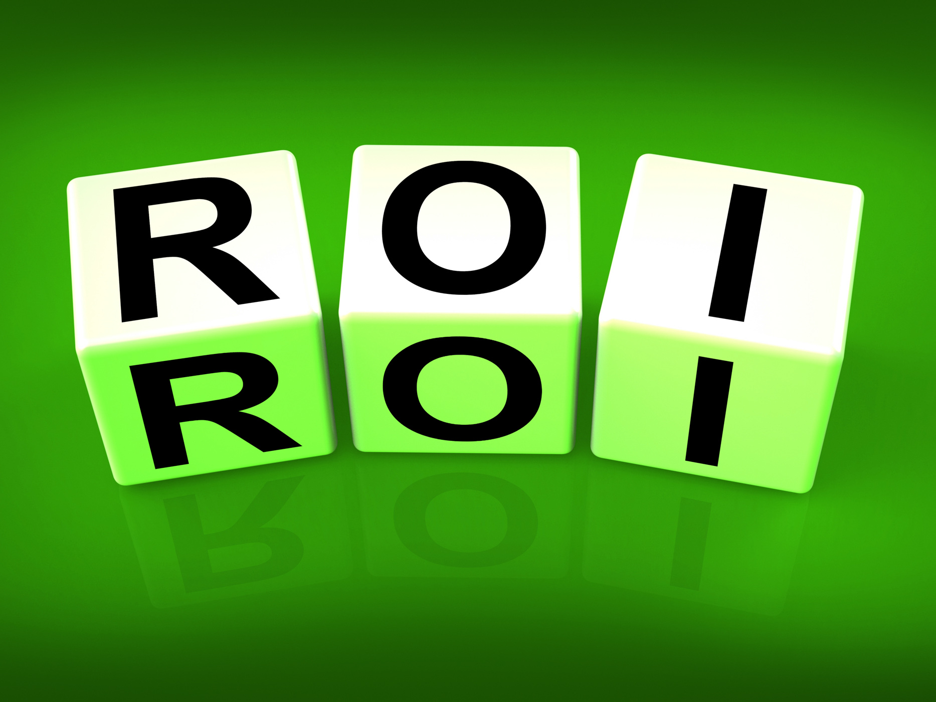 Roi blocks mean financial return on investment photo