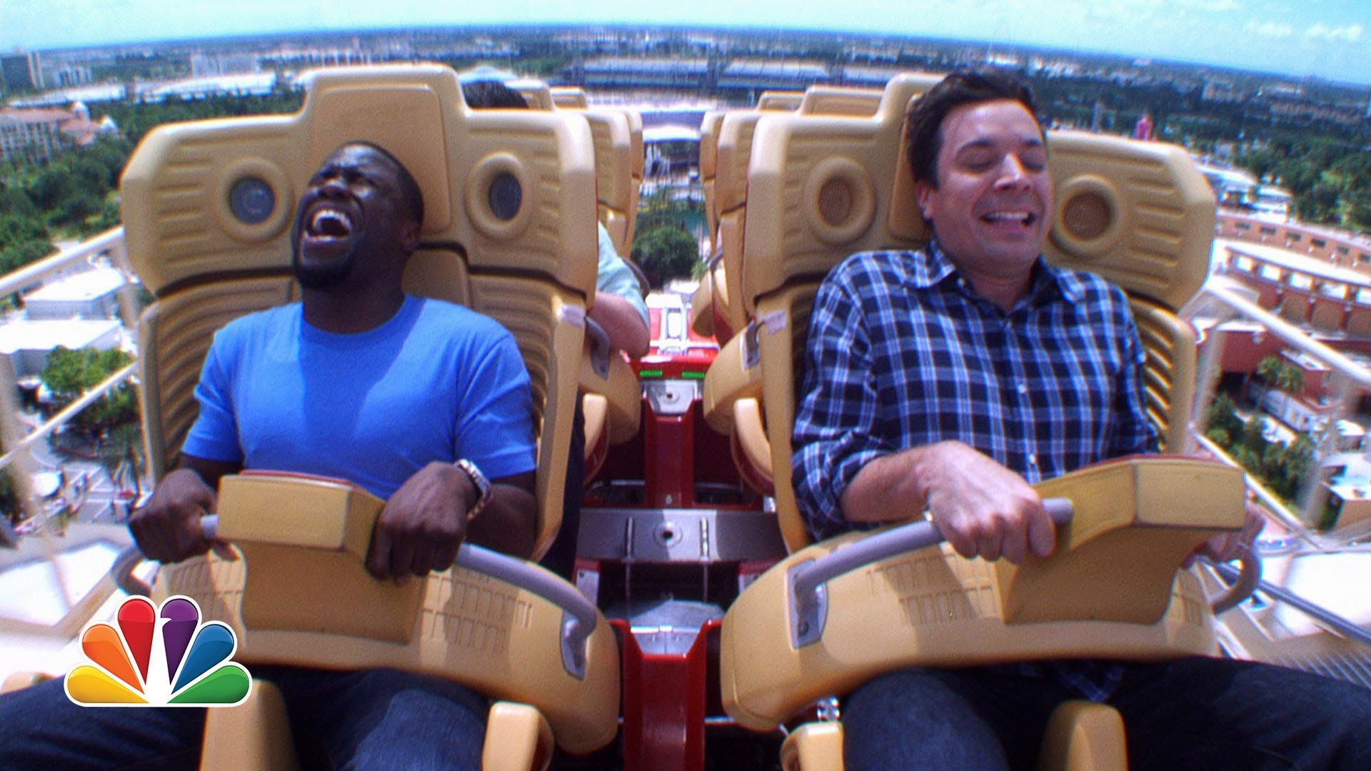 Jimmy and Kevin Hart Ride a Roller Coaster - YouTube