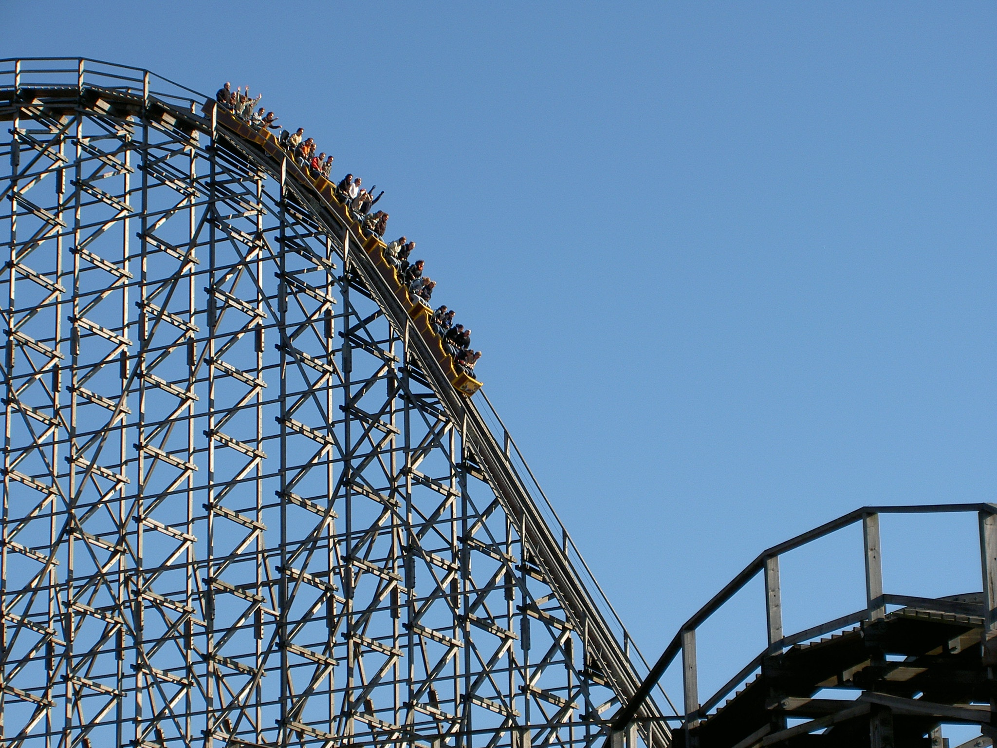 Roller Coaster Ride, Ride, Vacation, Tower, Tourism, HQ Photo