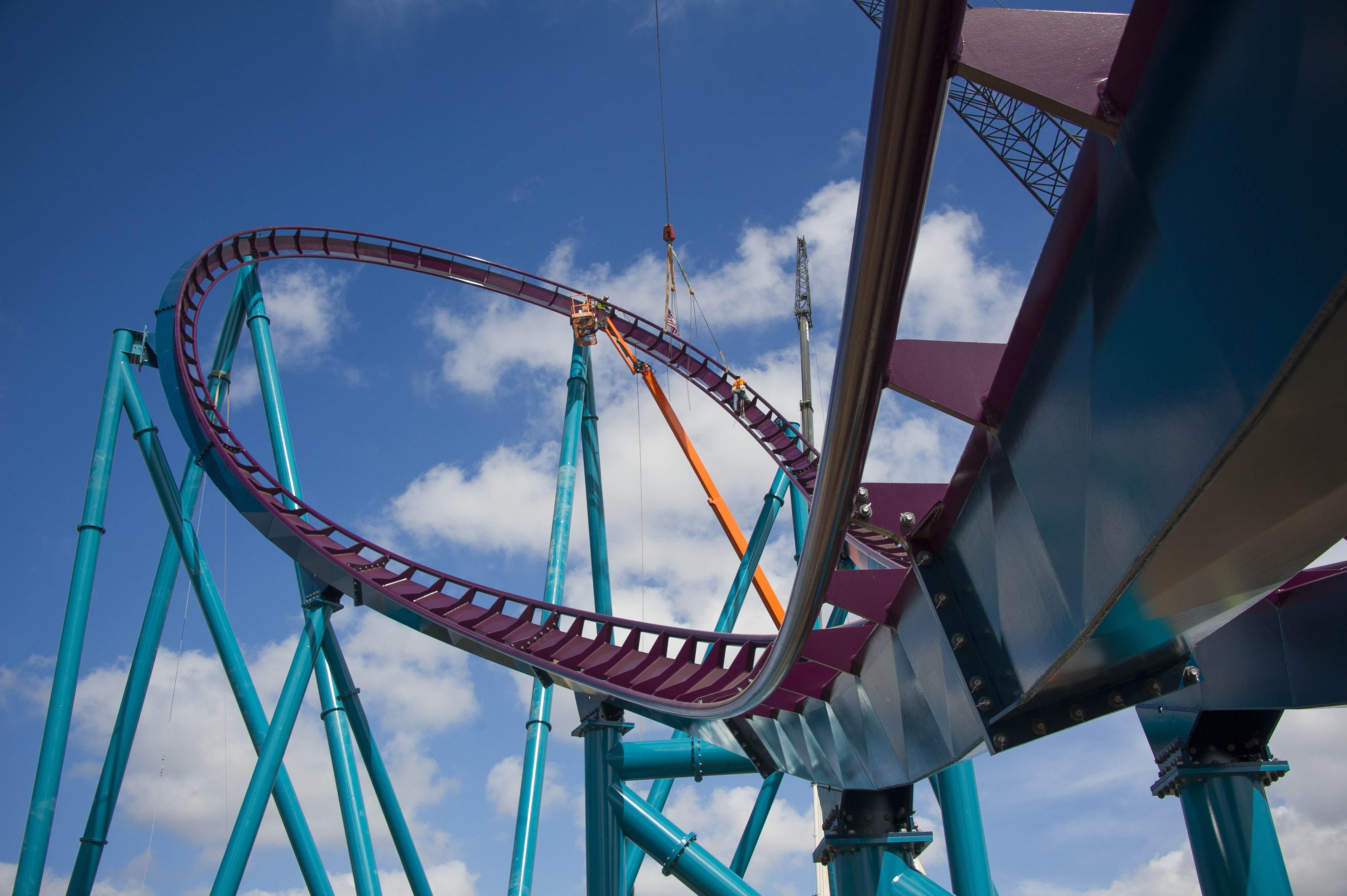SeaWorld Orlando's Mako Roller Coaster Track Complete   Inside Universal