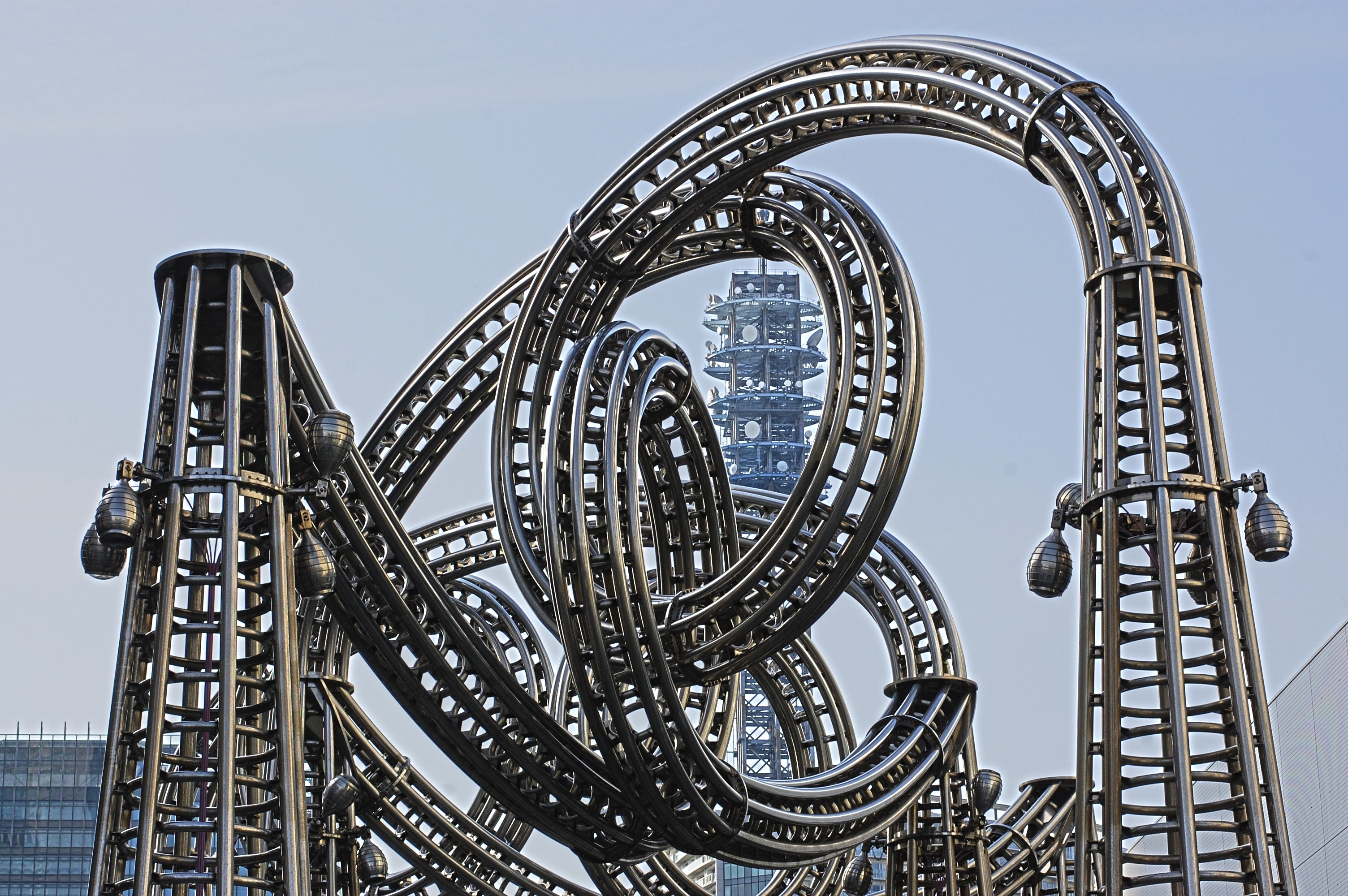 Roller Coaster Track, Architecture, Outdoors, Urban, Tower, HQ Photo