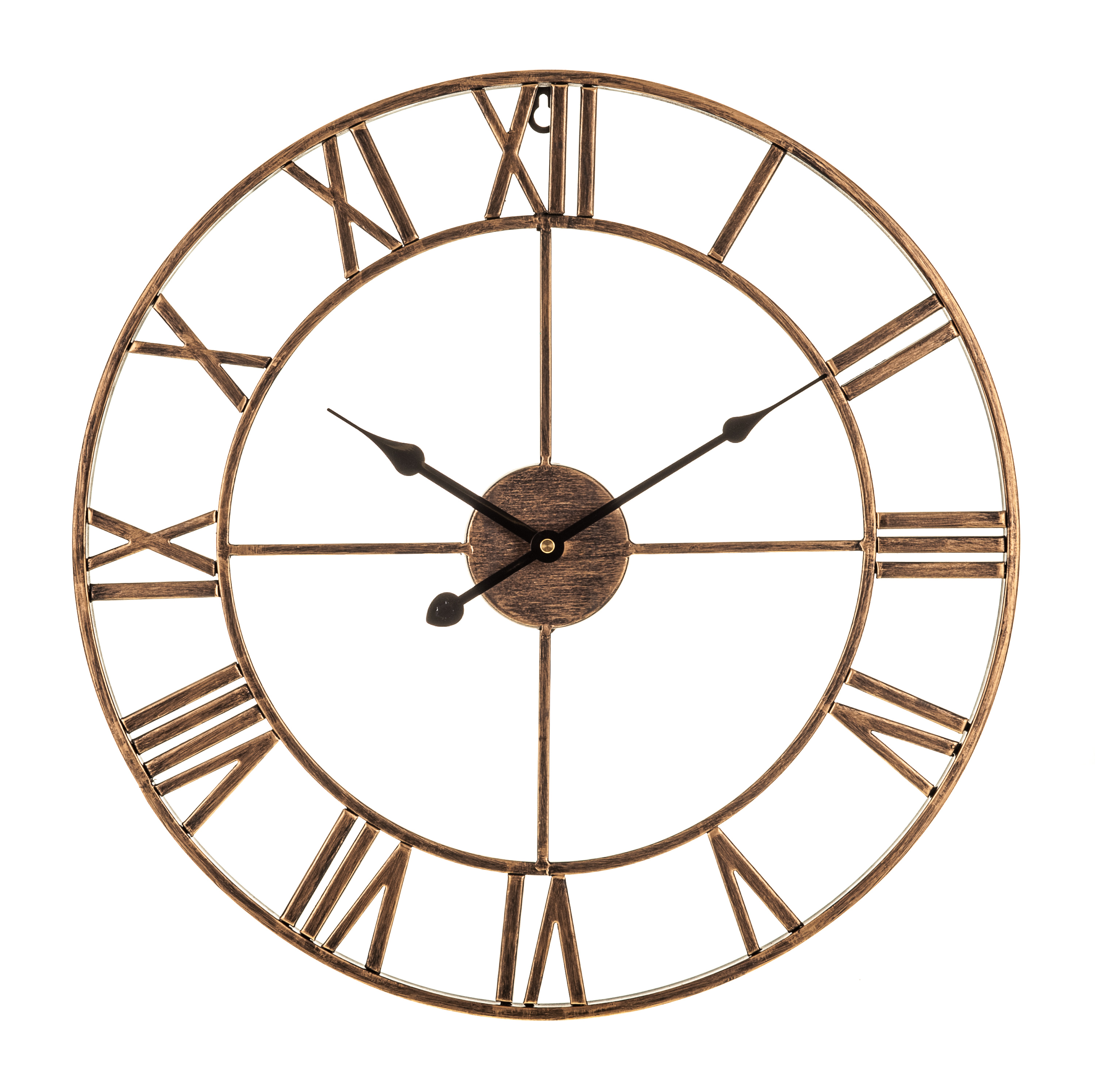 LIVIVO TRADITIONAL VINTAGE STYLE IRON WALL CLOCK ROMAN NUMERALS HOME ...