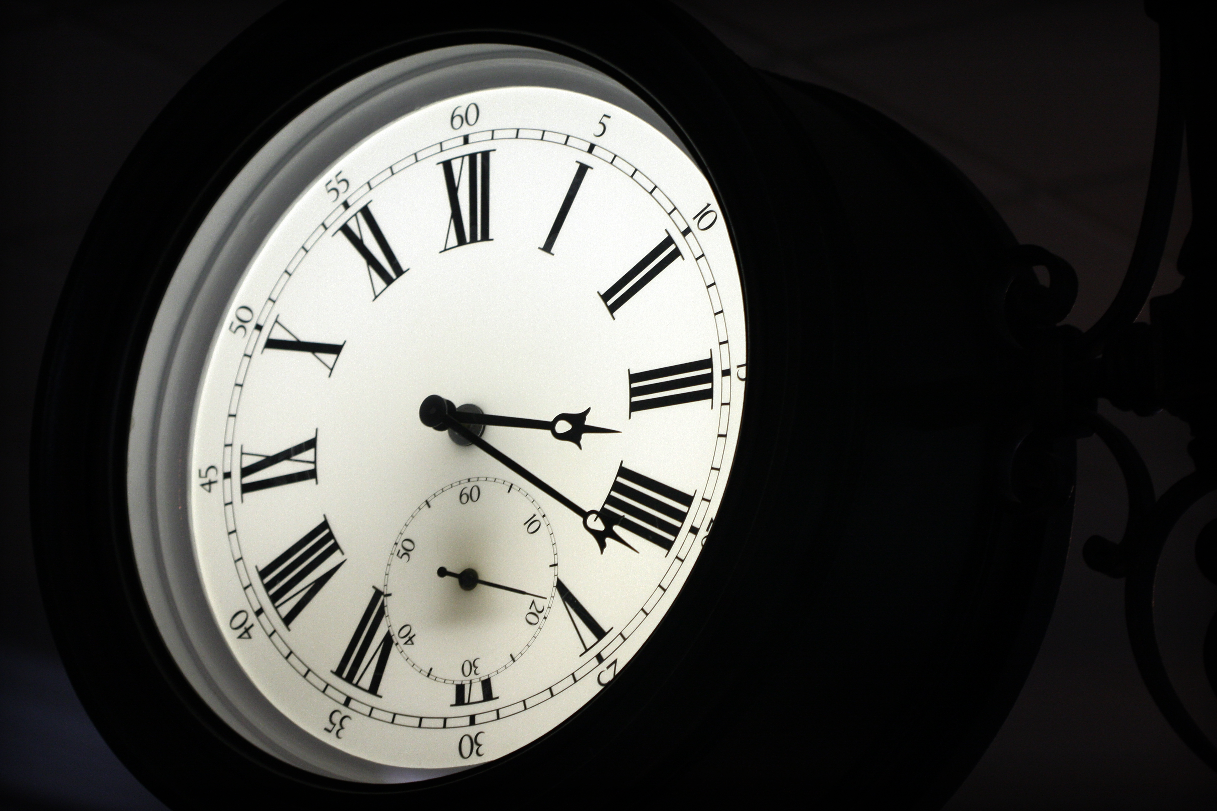 Roman Clock, Antique, Black, Clock, Hours, HQ Photo