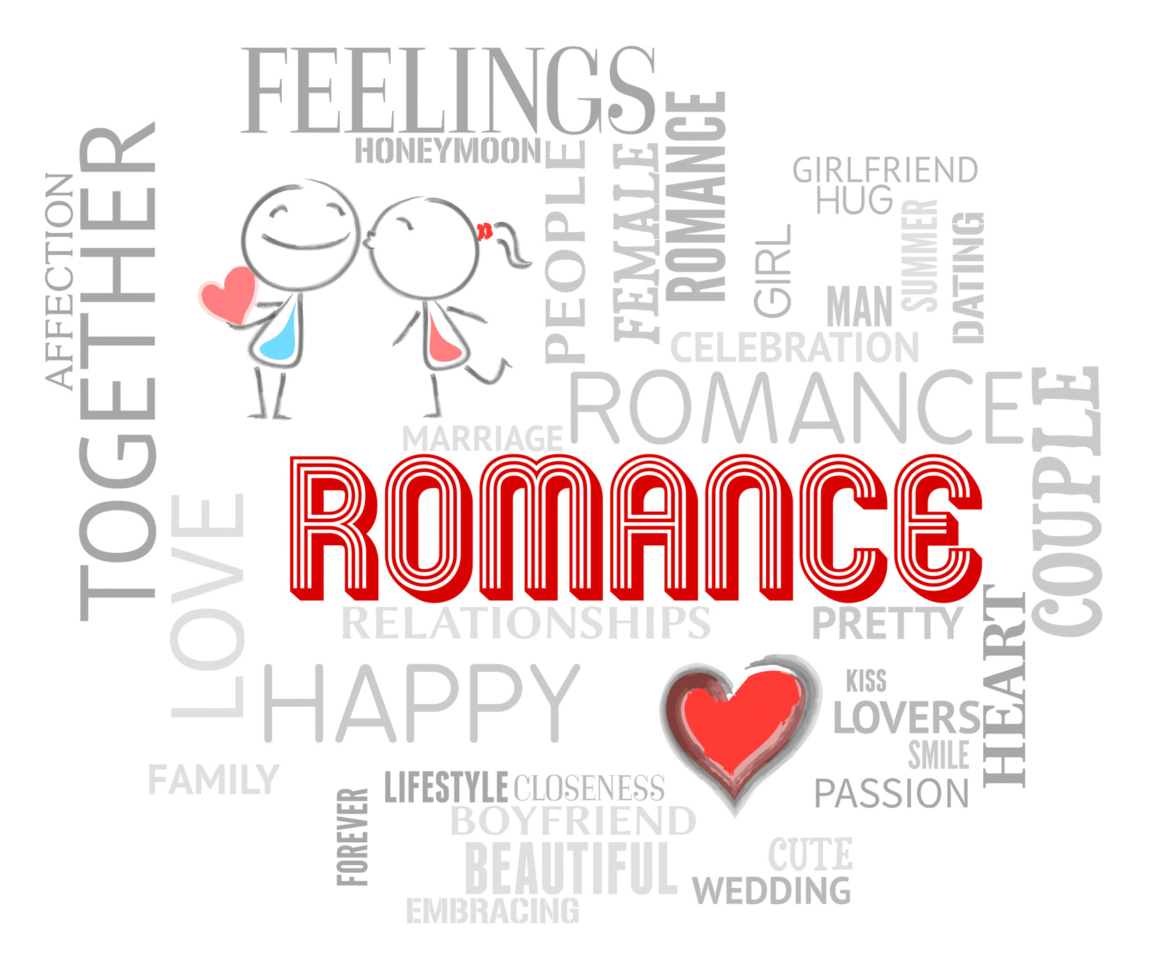 Romance words shows find love and affection photo