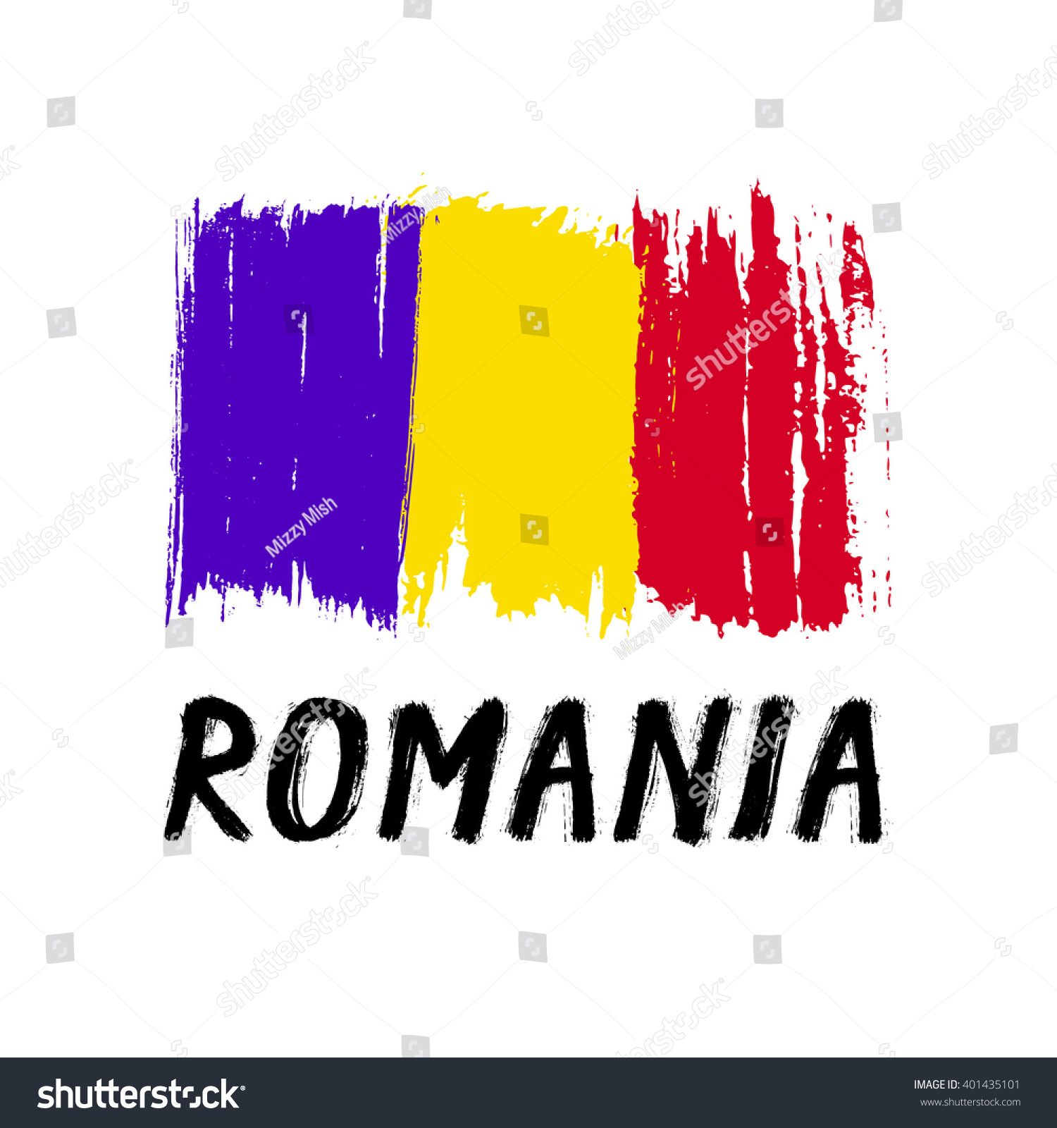 Flag Romania Grunge Stock Vector 401435101 - Shutterstock