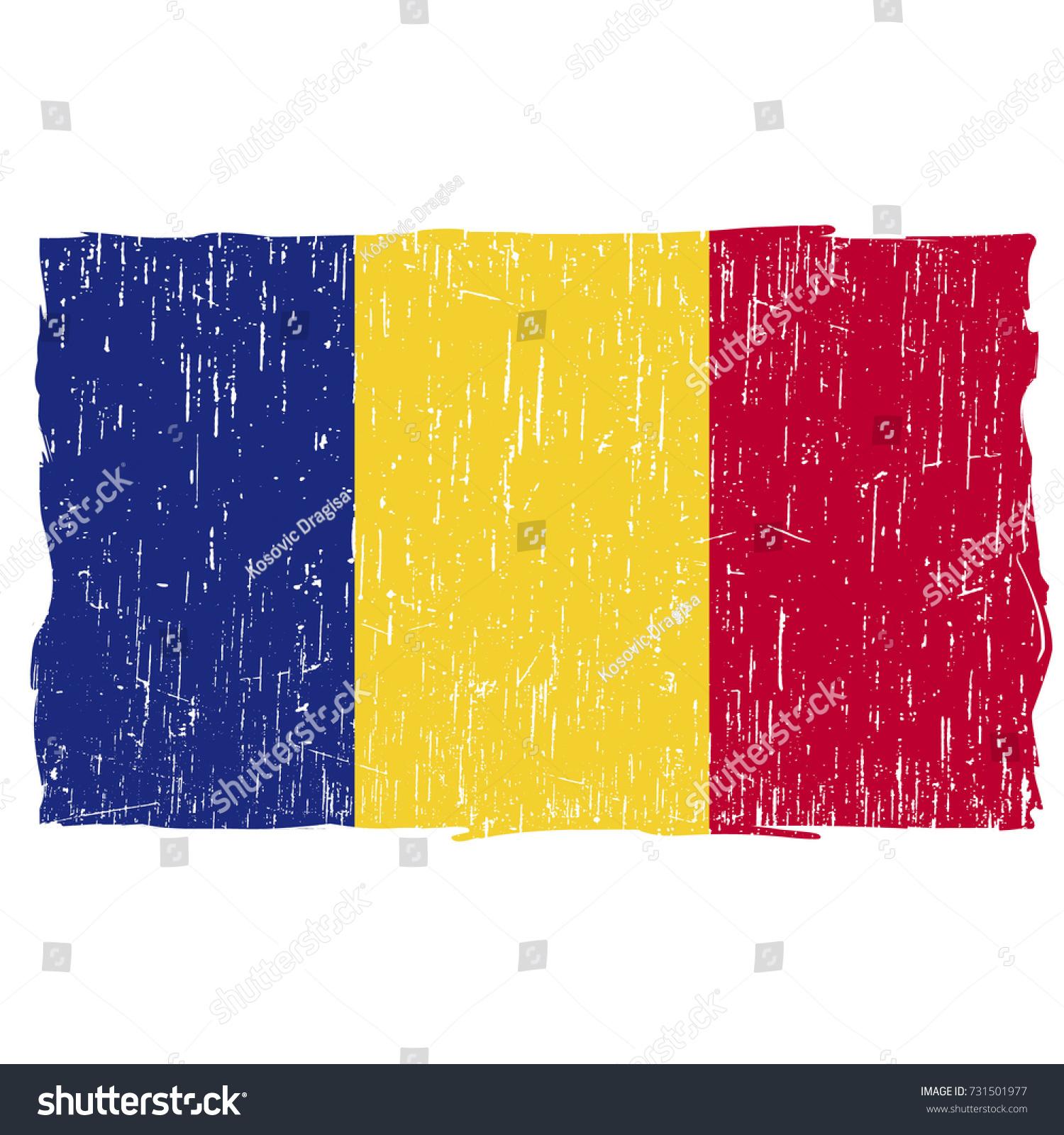 Grunge Romania Flag Vector Easy Use Stock Vector 731501977 ...