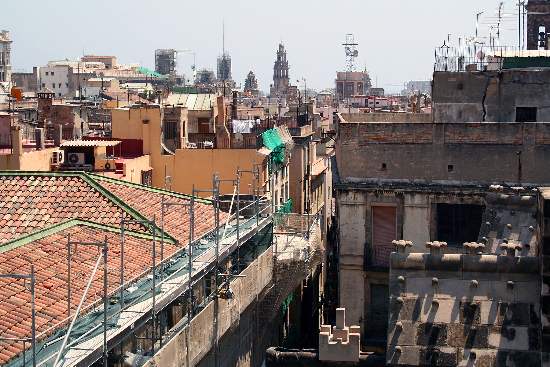 Rooftop view of the city of barcelona photo