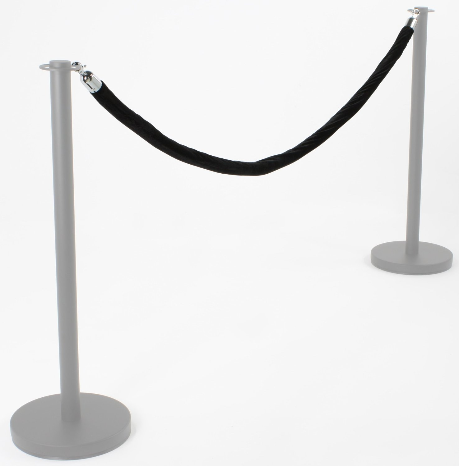 Amazon.com: Black or Red Barrier Rope Crowd Control Stanchion Queue ...
