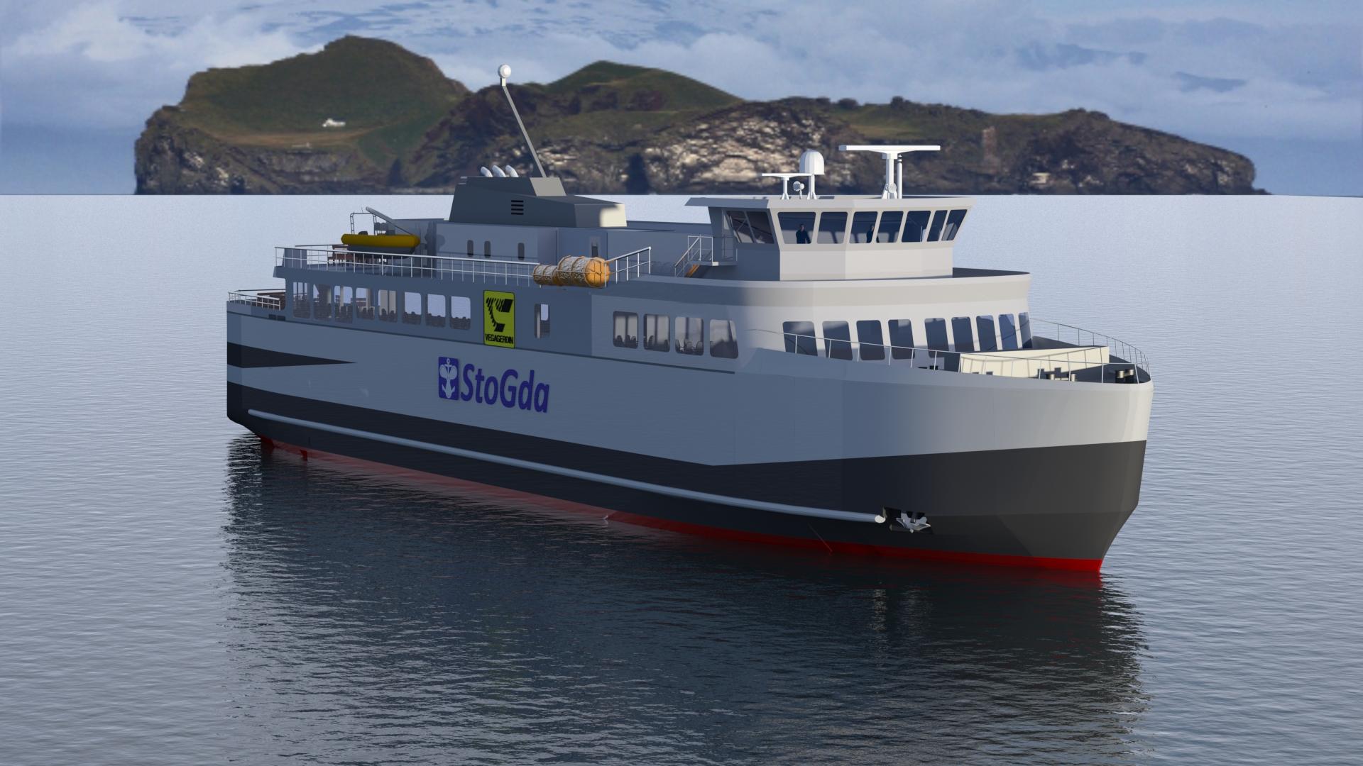 Keel laying for Modern Hybrid Ro-Ro Passenger Ferry - StoGda: ship ...