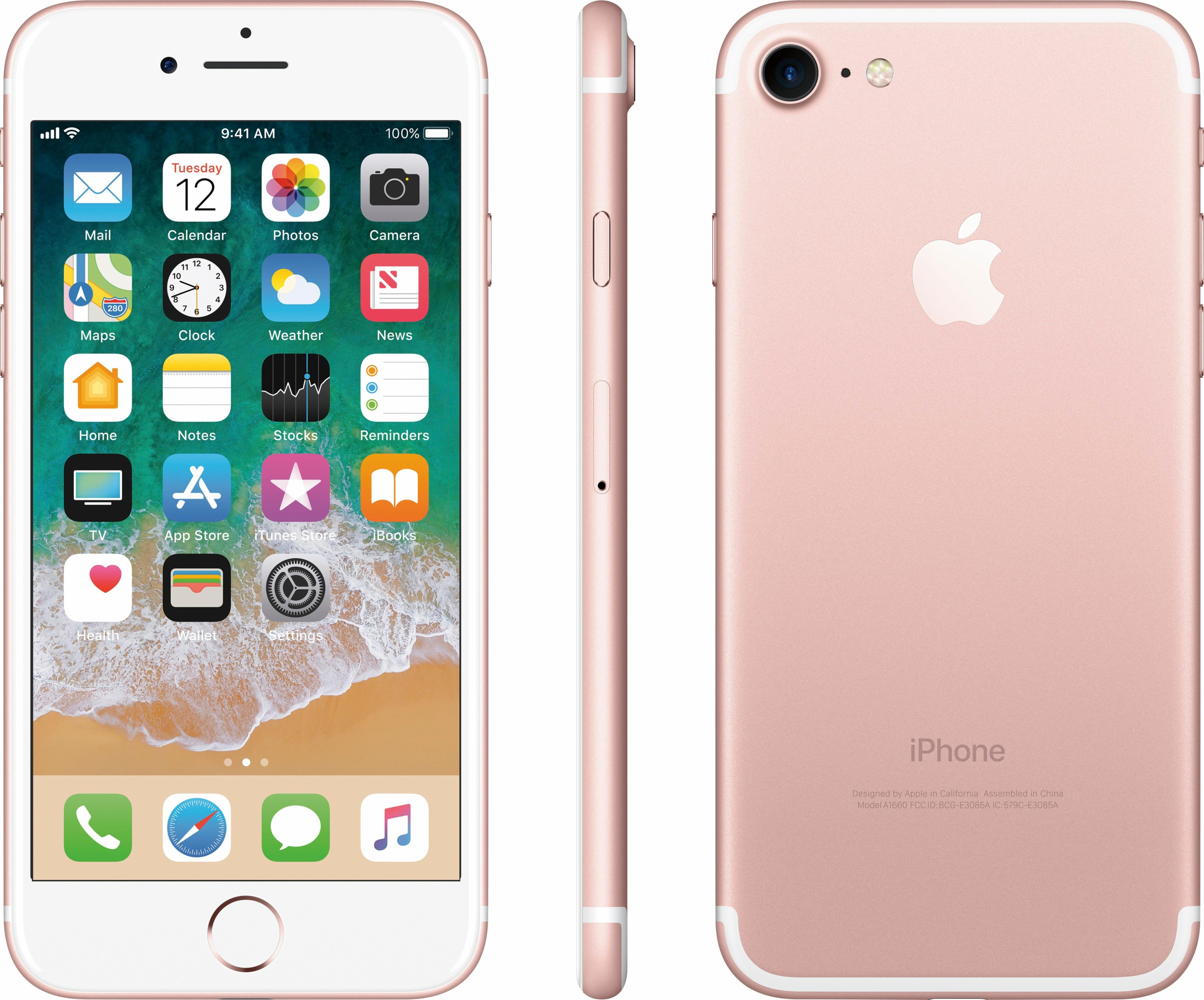 Apple iPhone 7 32GB Rose gold MN8K2LL/A - Best Buy