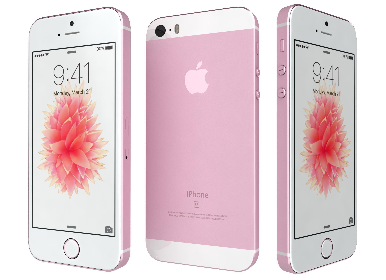 3D model Apple iPhone SE Rose Gold | CGTrader
