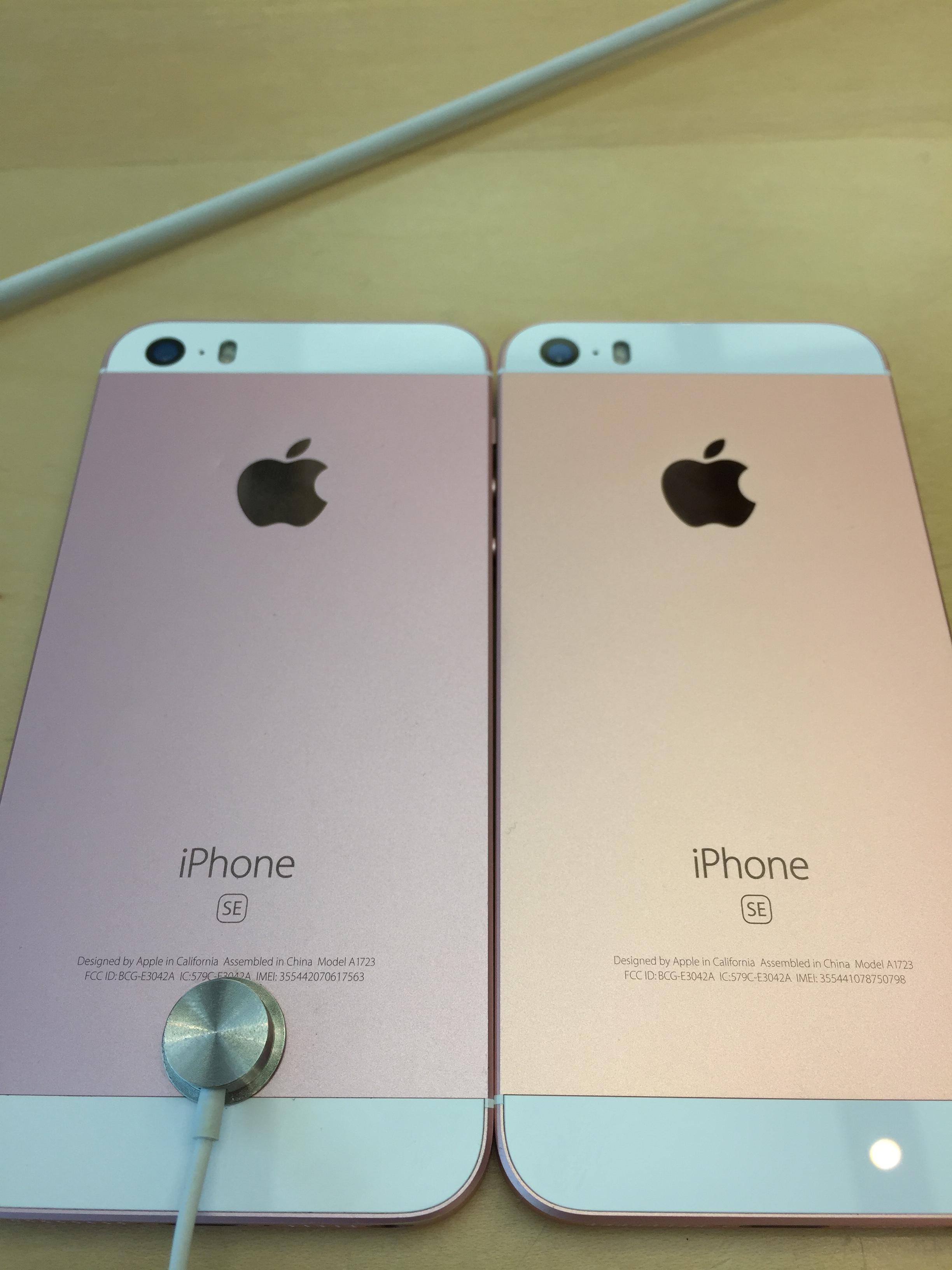 My Rose Gold iPhone SE isn't the same as any other one? I compared ...