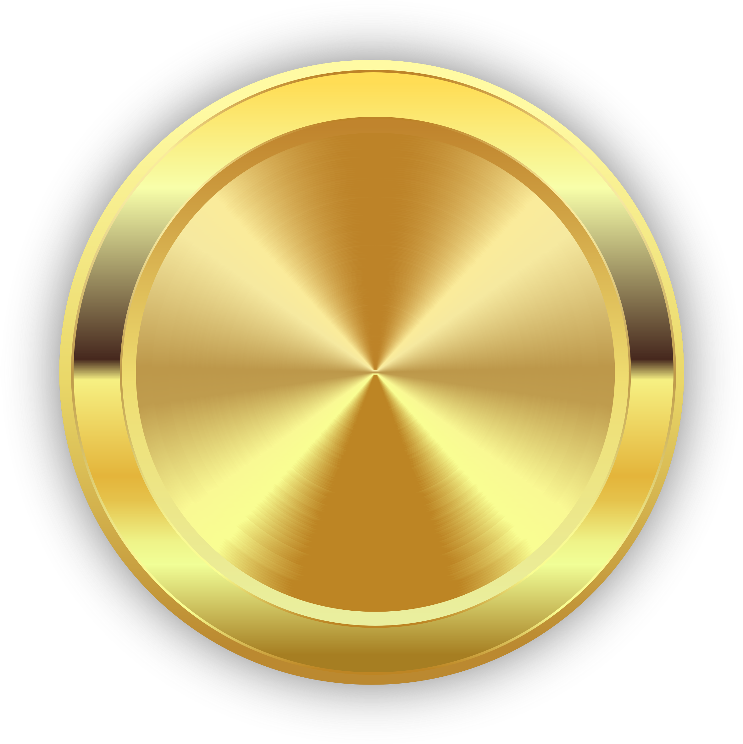 Round Golden Badge Icons PNG - Free PNG and Icons Downloads