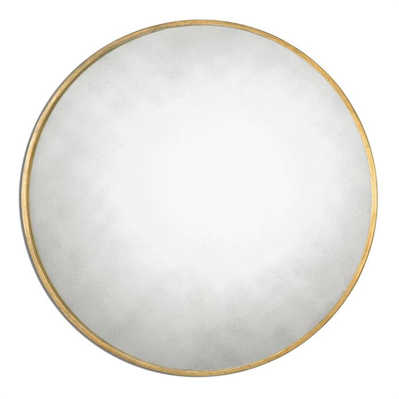 Junius Round Gold Round Mirror Uttermost Wall Mirror Wall Mirrors ...