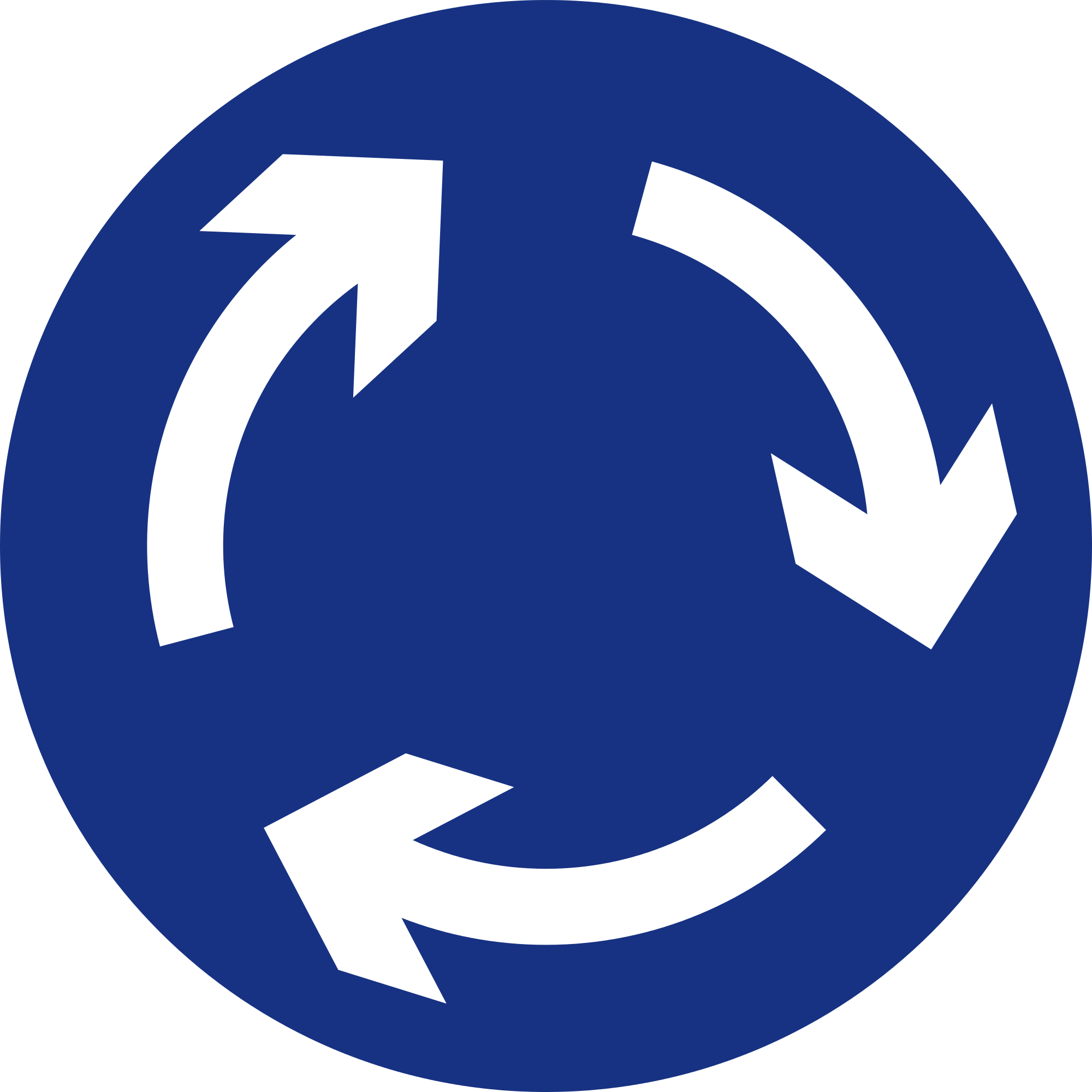 File:Mauritius Road Signs - Mandatory Sign - Compulsory Round-about ...