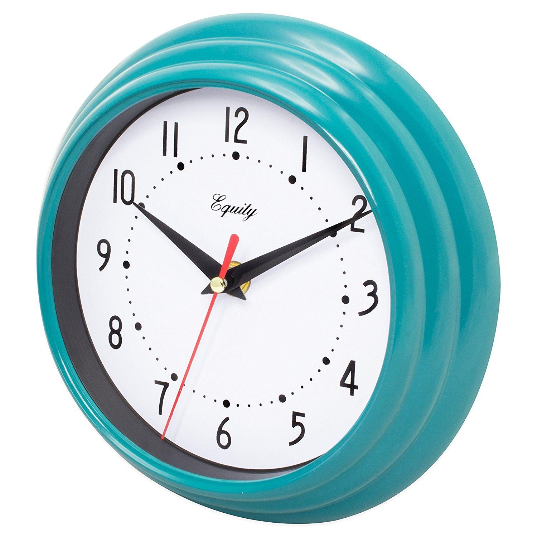 Amazon.com: Equity by La Crosse 25020 Analog Wall Clock, Teal Blue ...