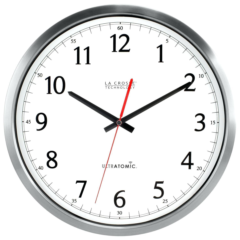 20 Shasta Wire Wall Clockatomic Analog Clock with Temperature atomic ...