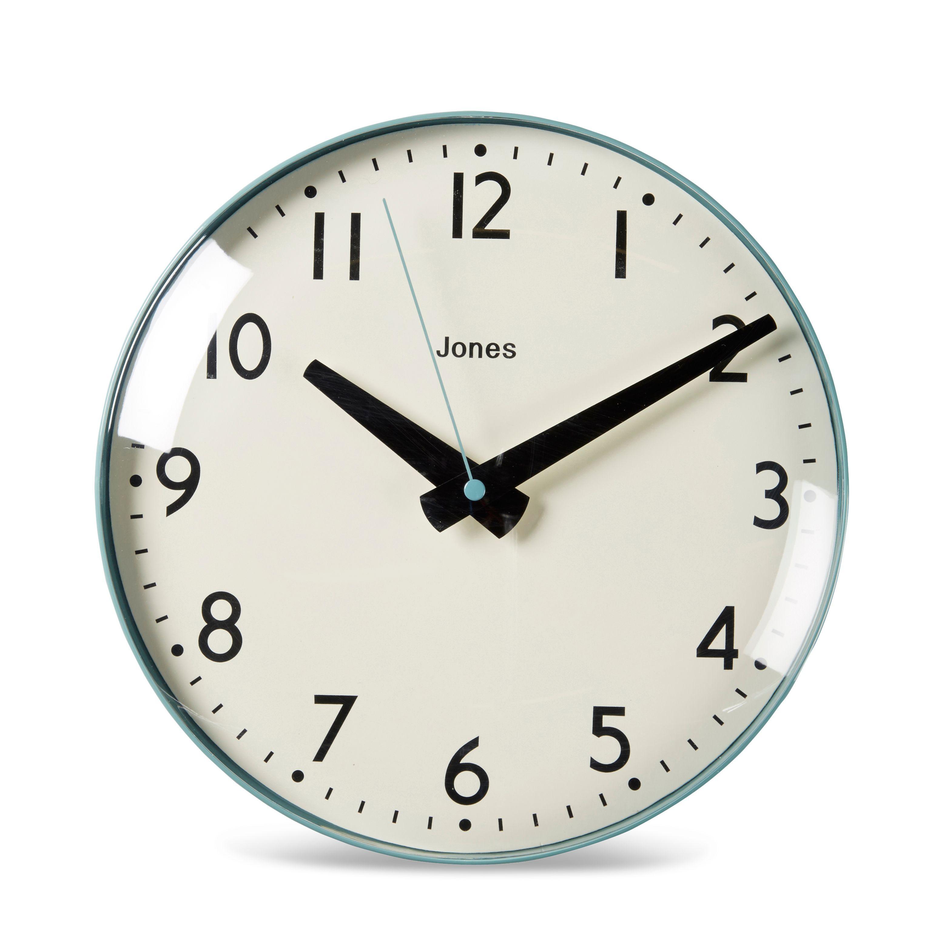 Jones Clocks Concorde Teal Analogue Clock | Departments | DIY at B&Q