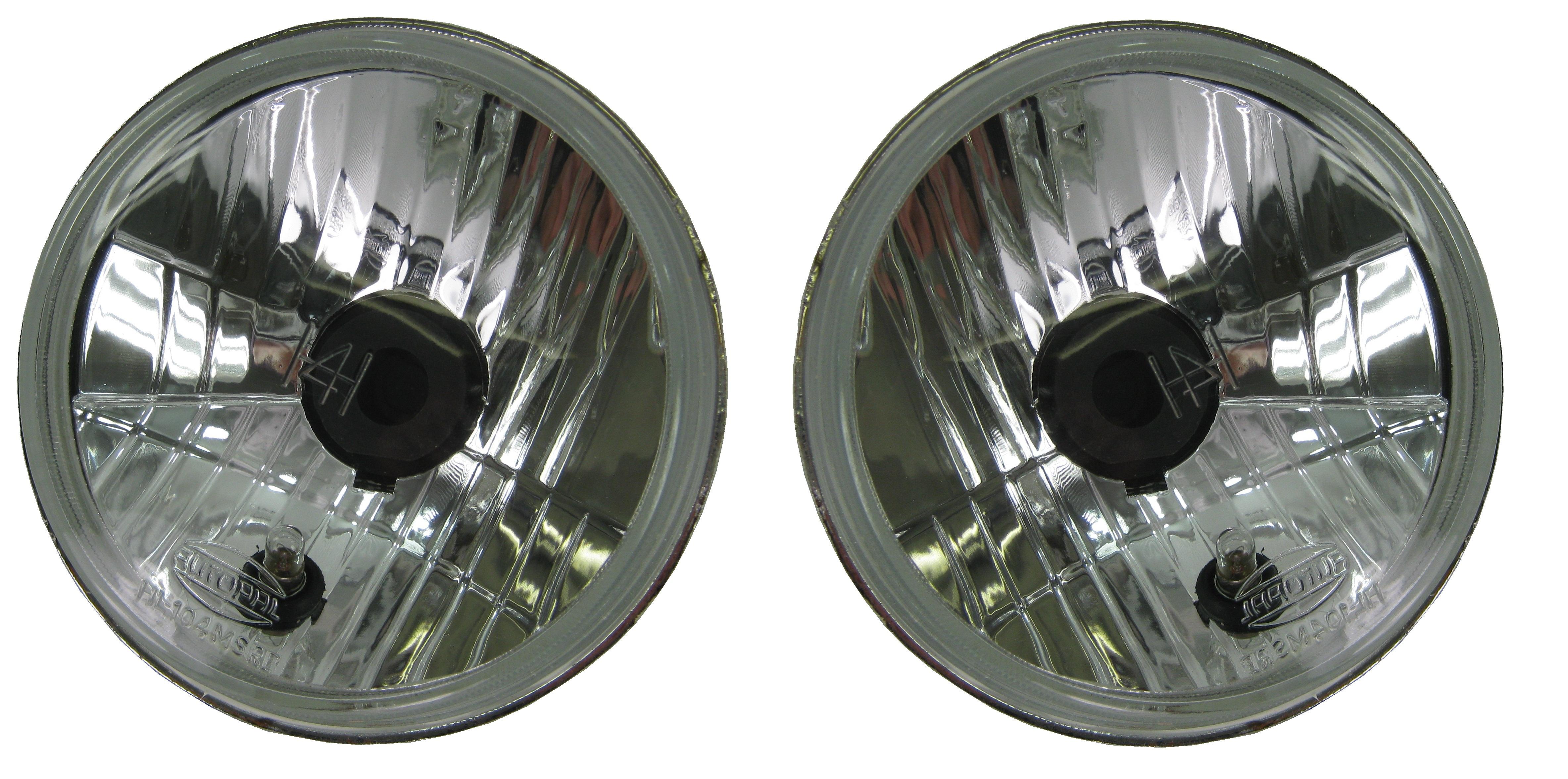 Round car lights photo