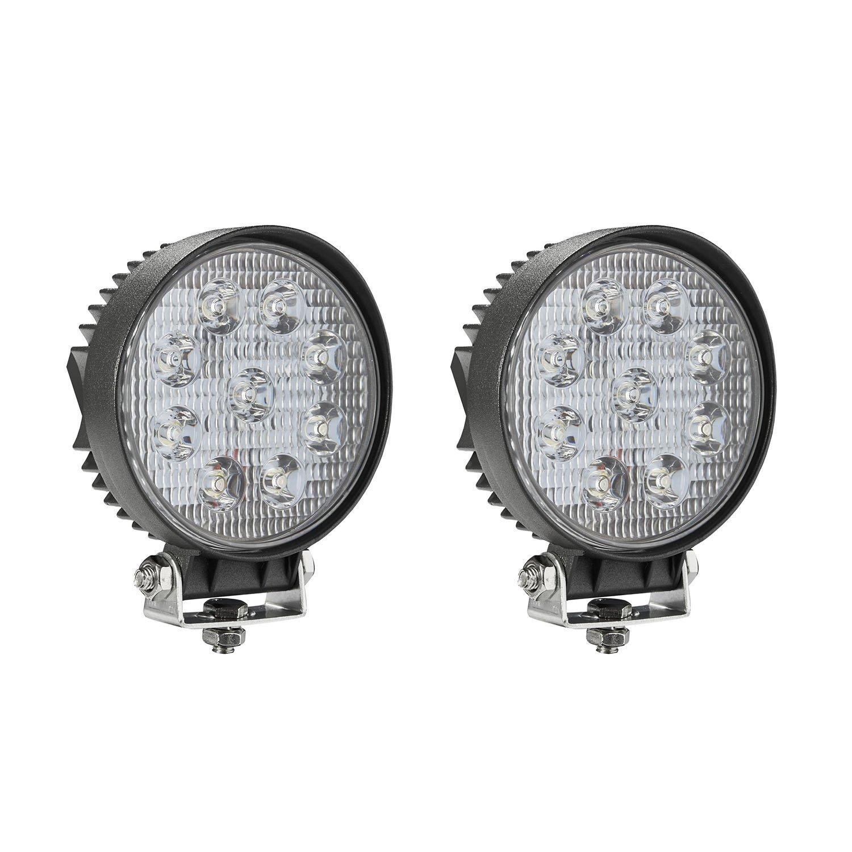 Amazon.com: LED Light Bar, Northpole Light 2x 27W Round Flood LED ...