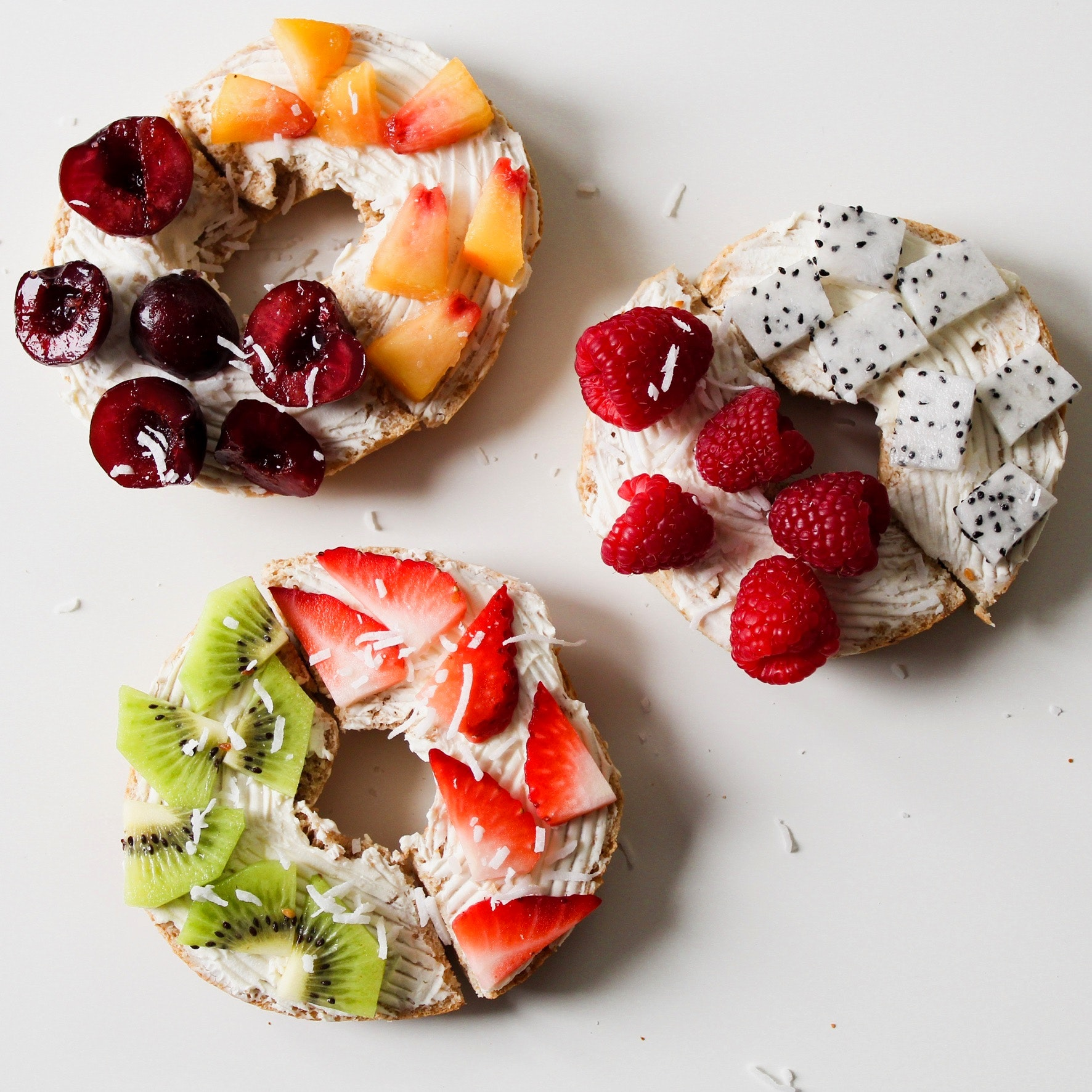 Round Fruit Donuts, Mixed fruits, Raspberries, Healthy food, Healthy diet, HQ Photo