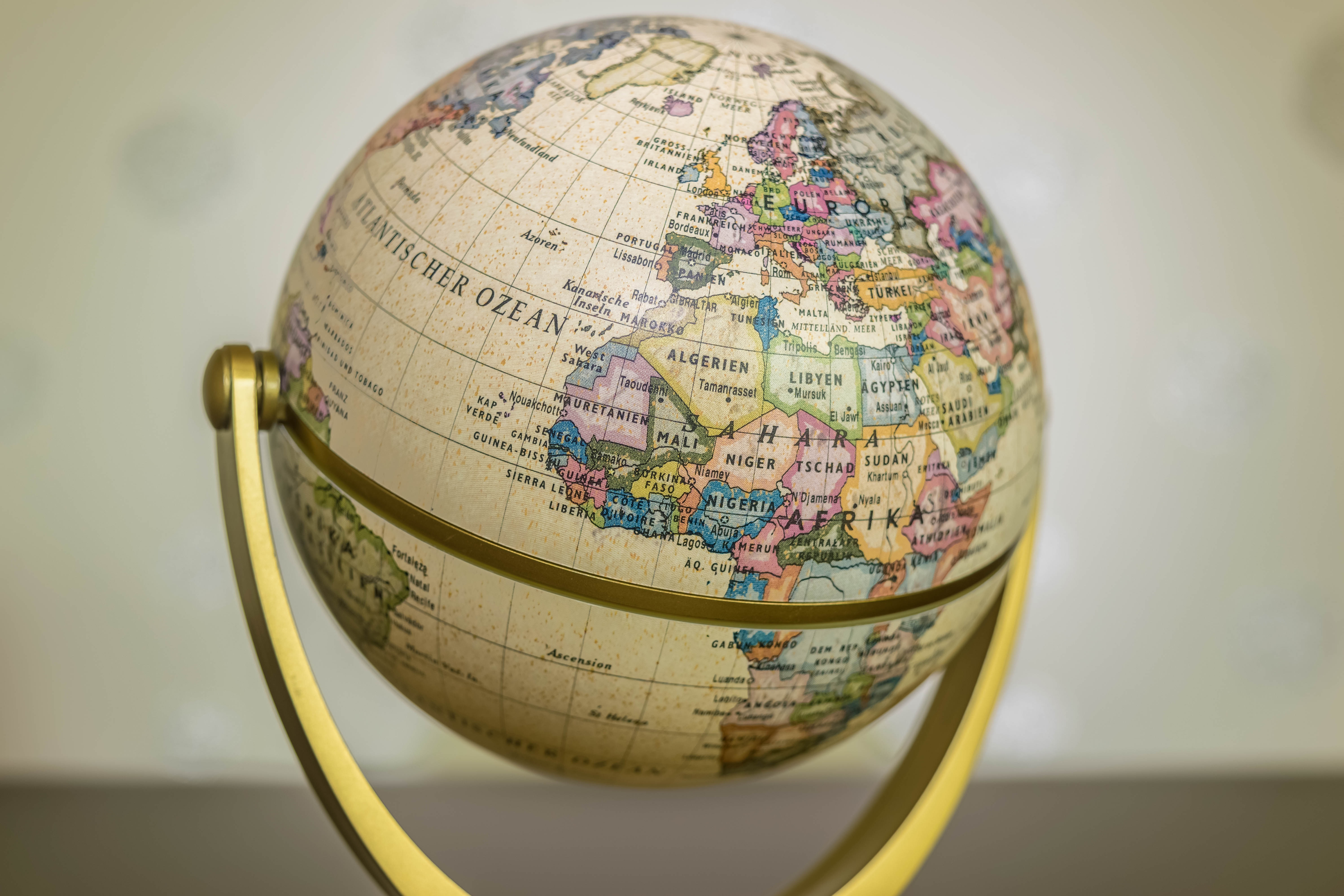 Round Globe projection round object map HQ