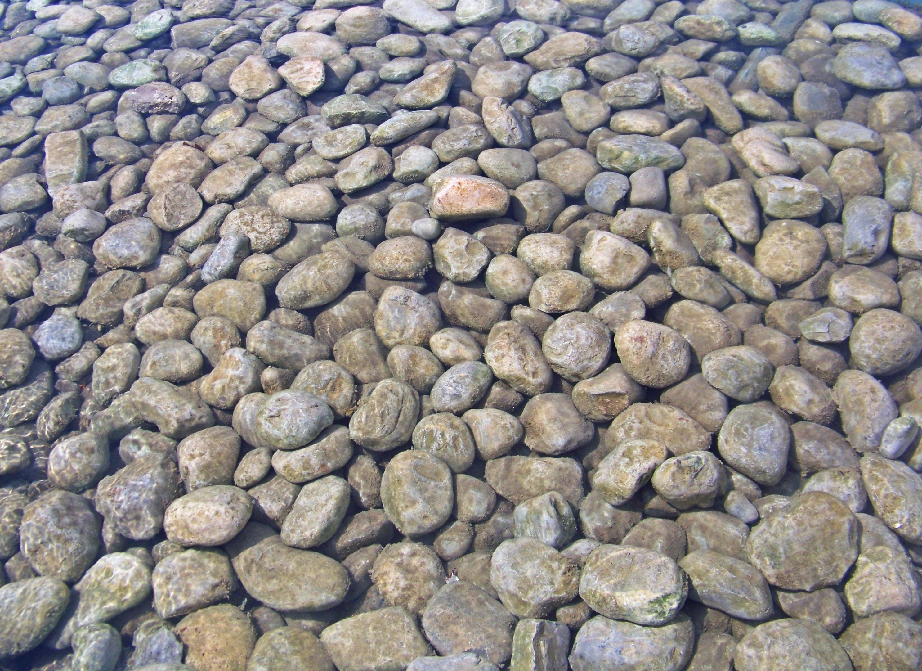 Round pebble stones photo
