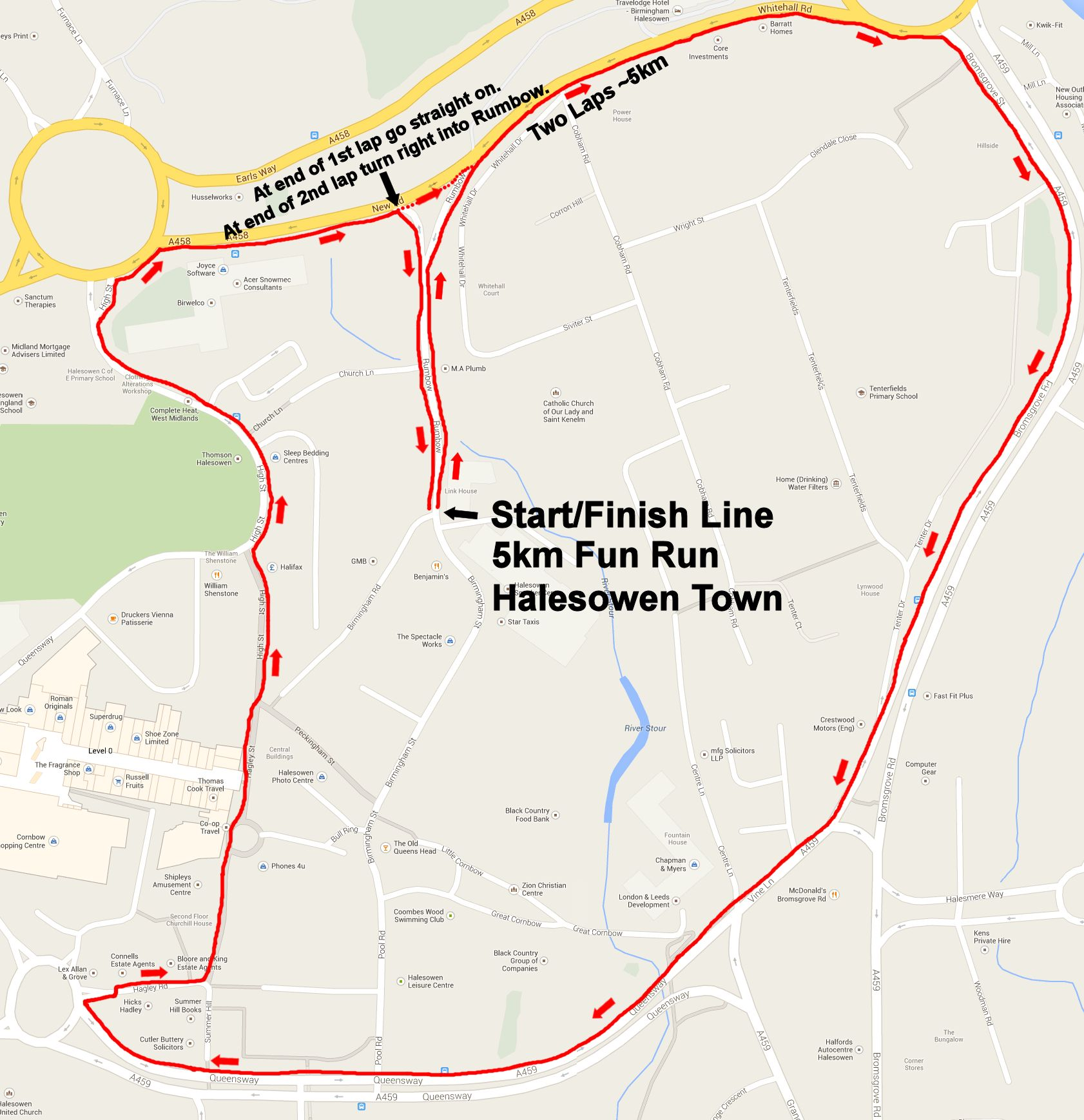 The Black Country Family Fun Run - Route