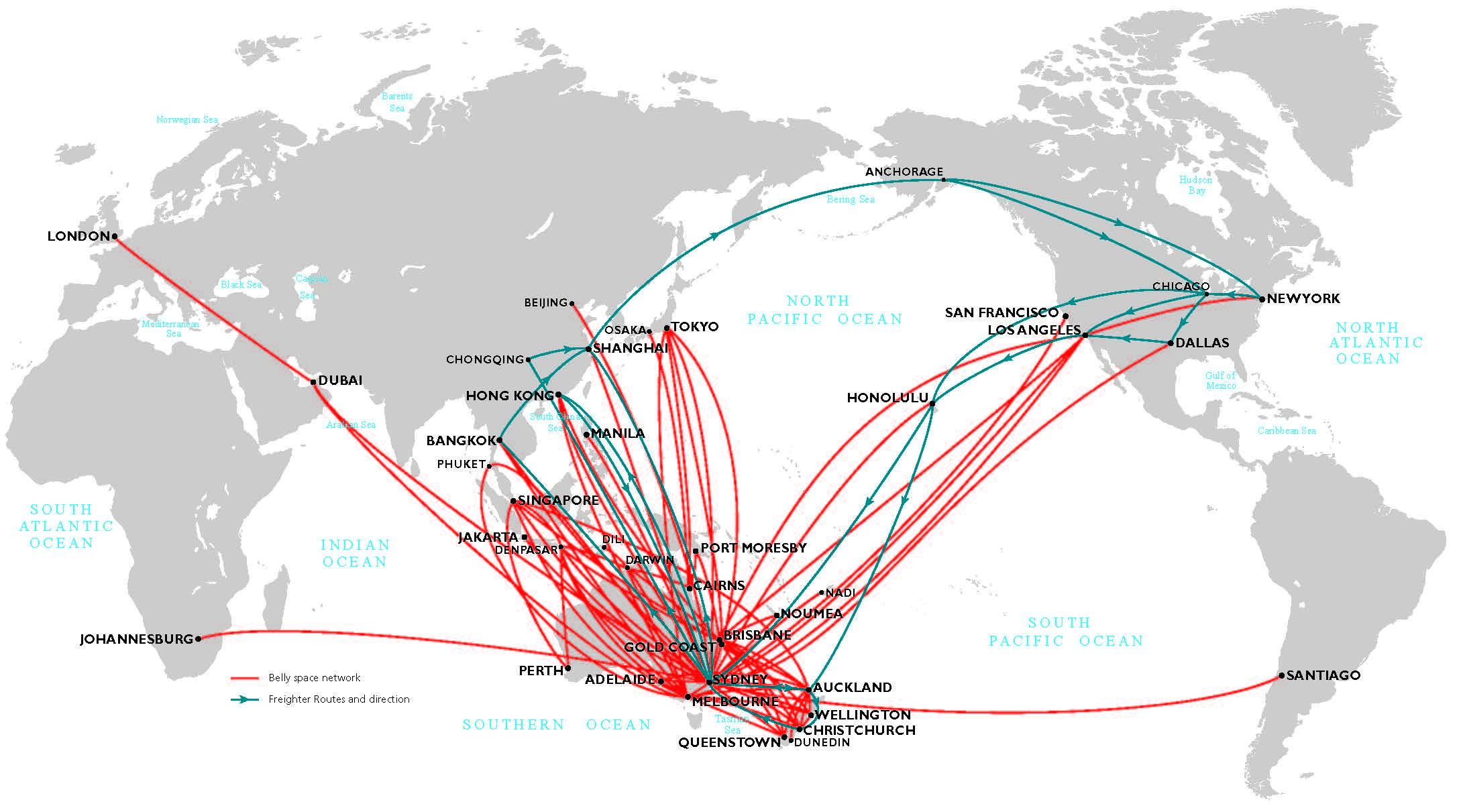 Our freight network | Qantas Freight